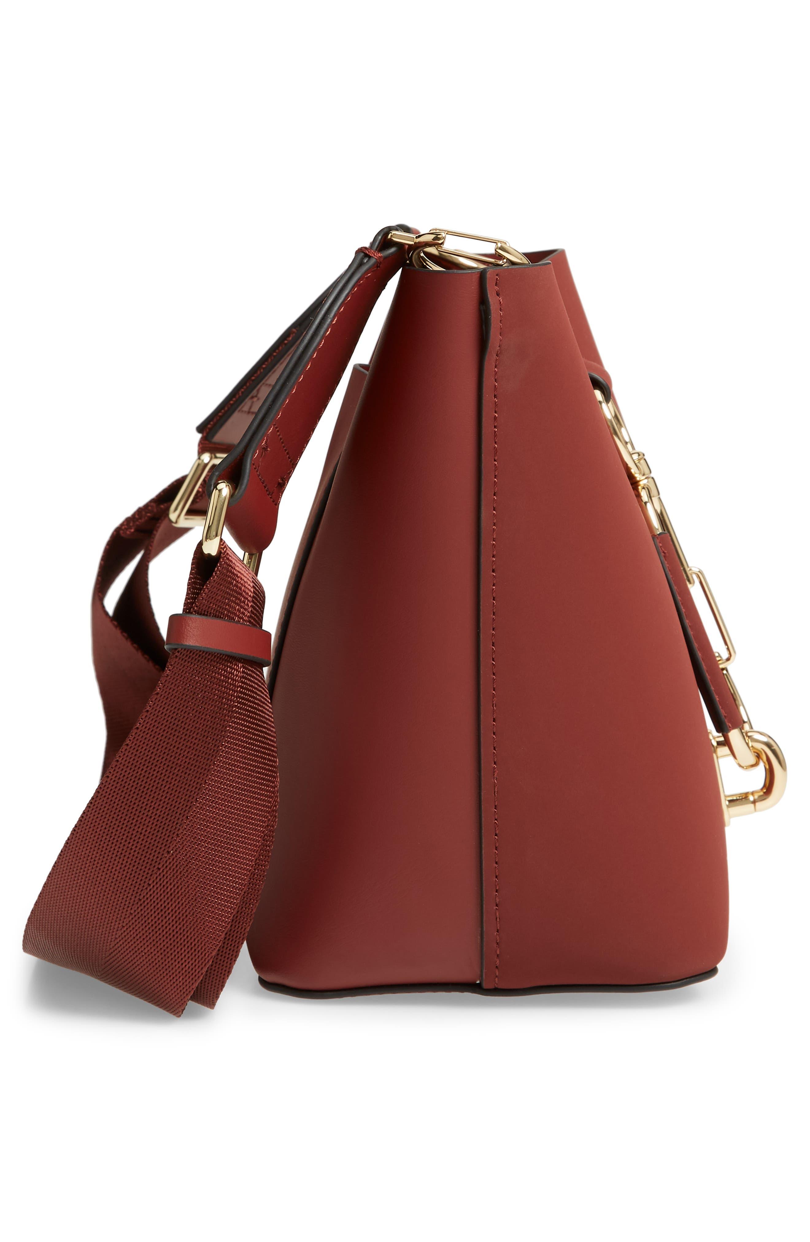 Small Belay Leather Hobo Bag,                             Alternate thumbnail 5, color,                             SMOKED MERLOT