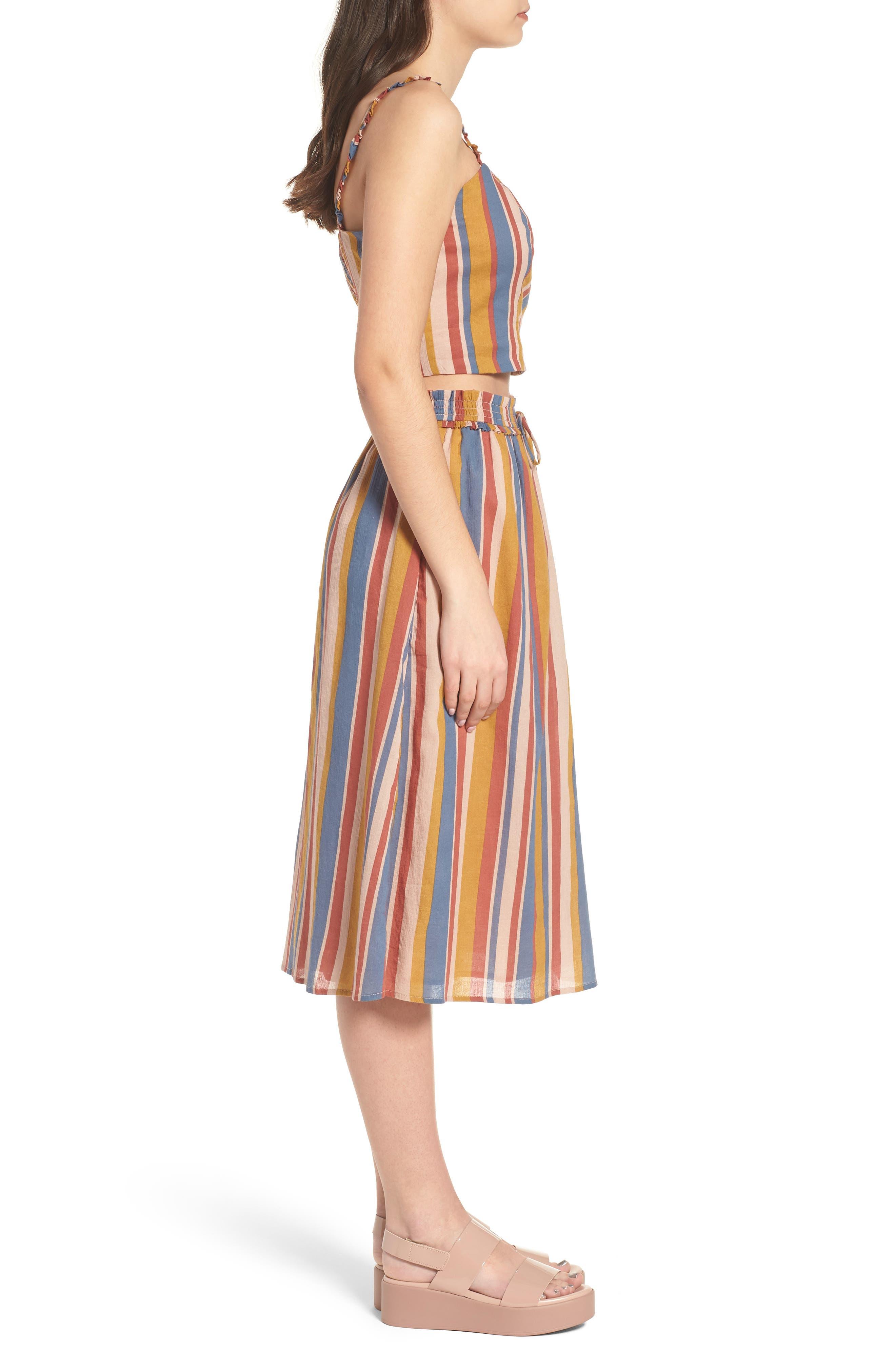 Smocked Midi Skirt,                             Alternate thumbnail 9, color,