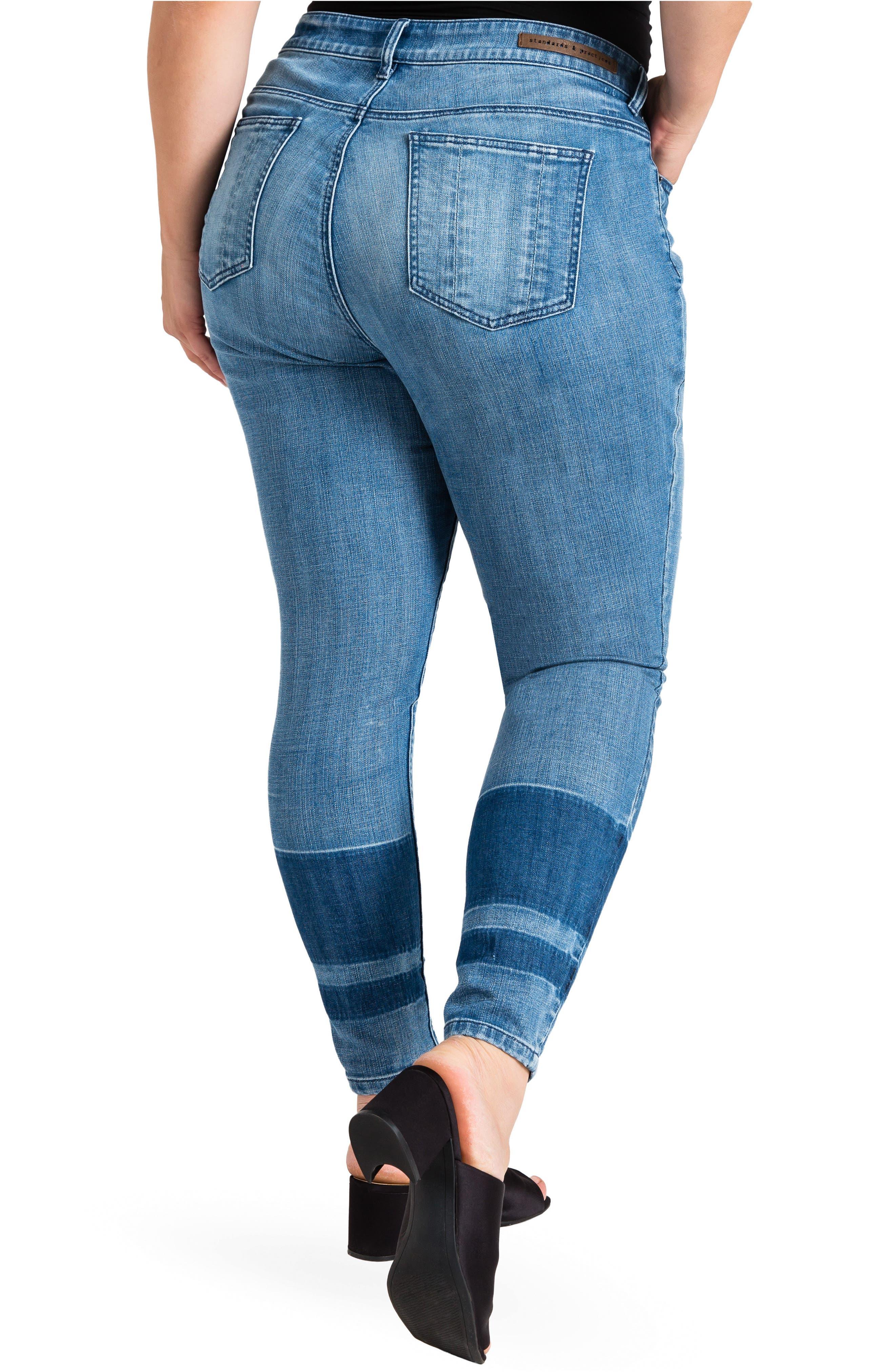 Virginia Ankle Skinny Jeans,                             Alternate thumbnail 2, color,                             MEDIUM BLUE