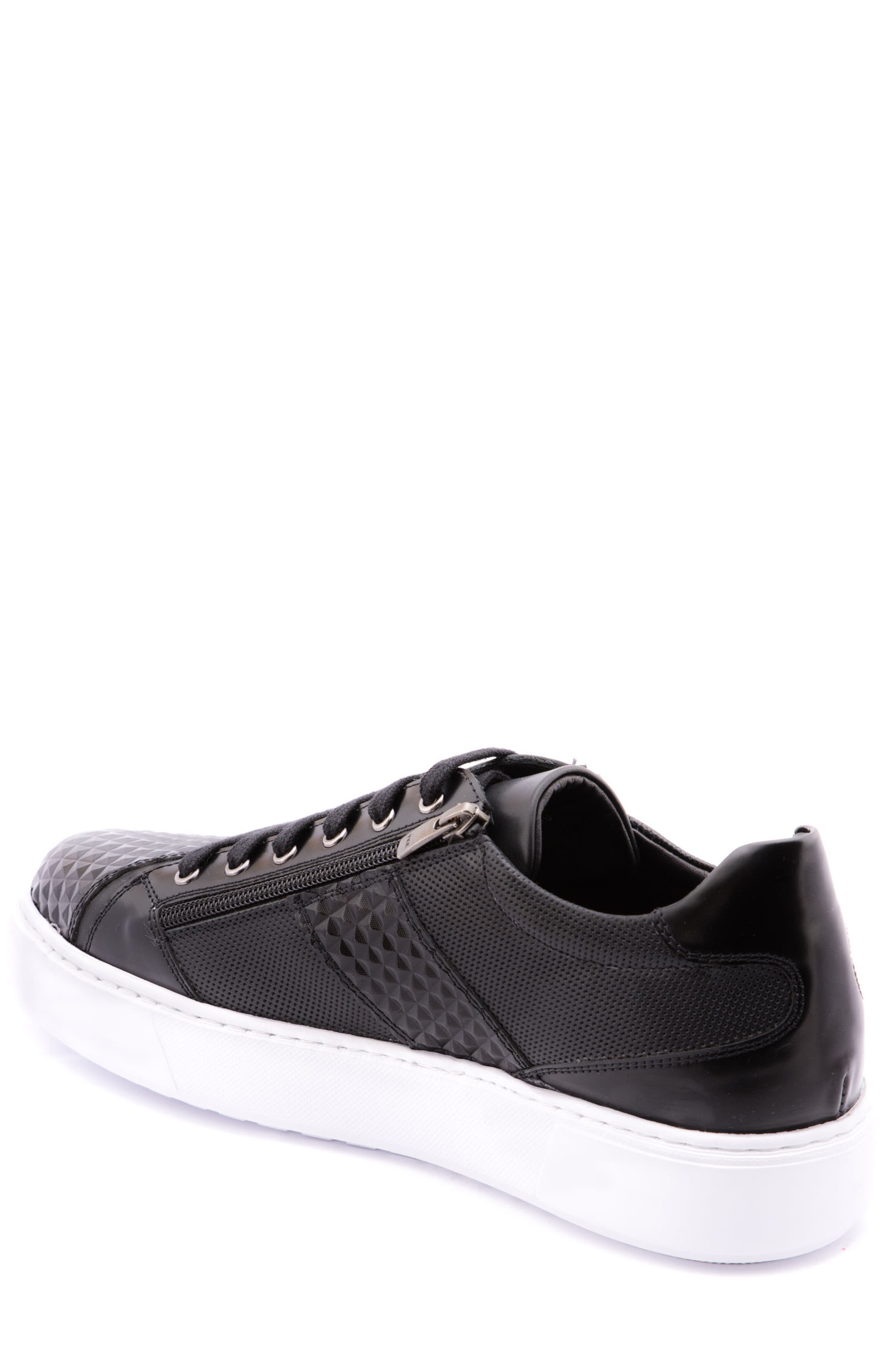 Justin Perforated Sneaker,                             Alternate thumbnail 2, color,                             BLACK