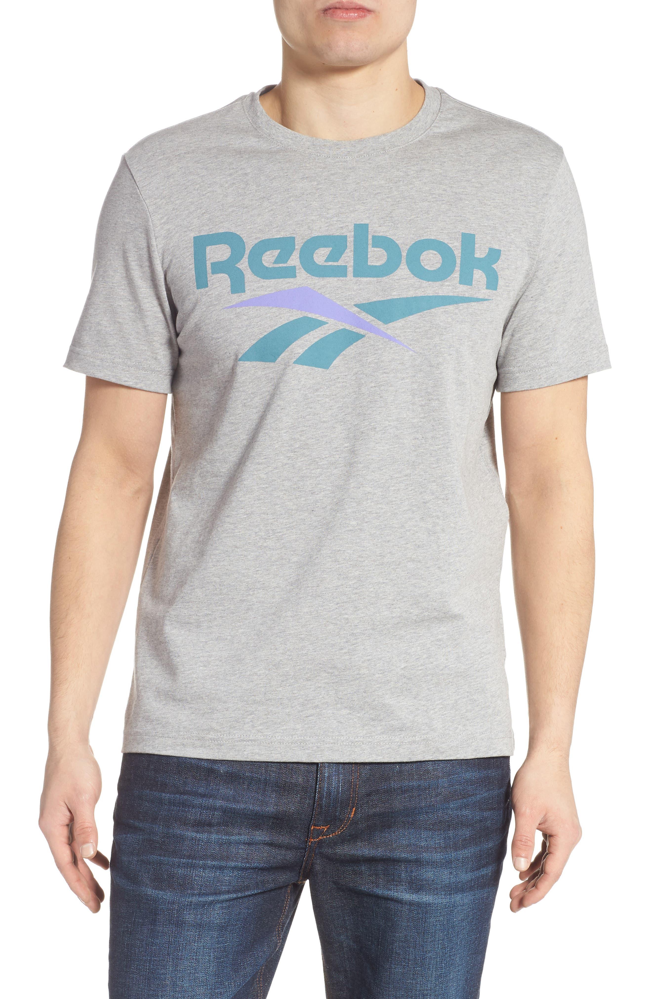 Reebok Classics Vector Logo T-Shirt, Grey