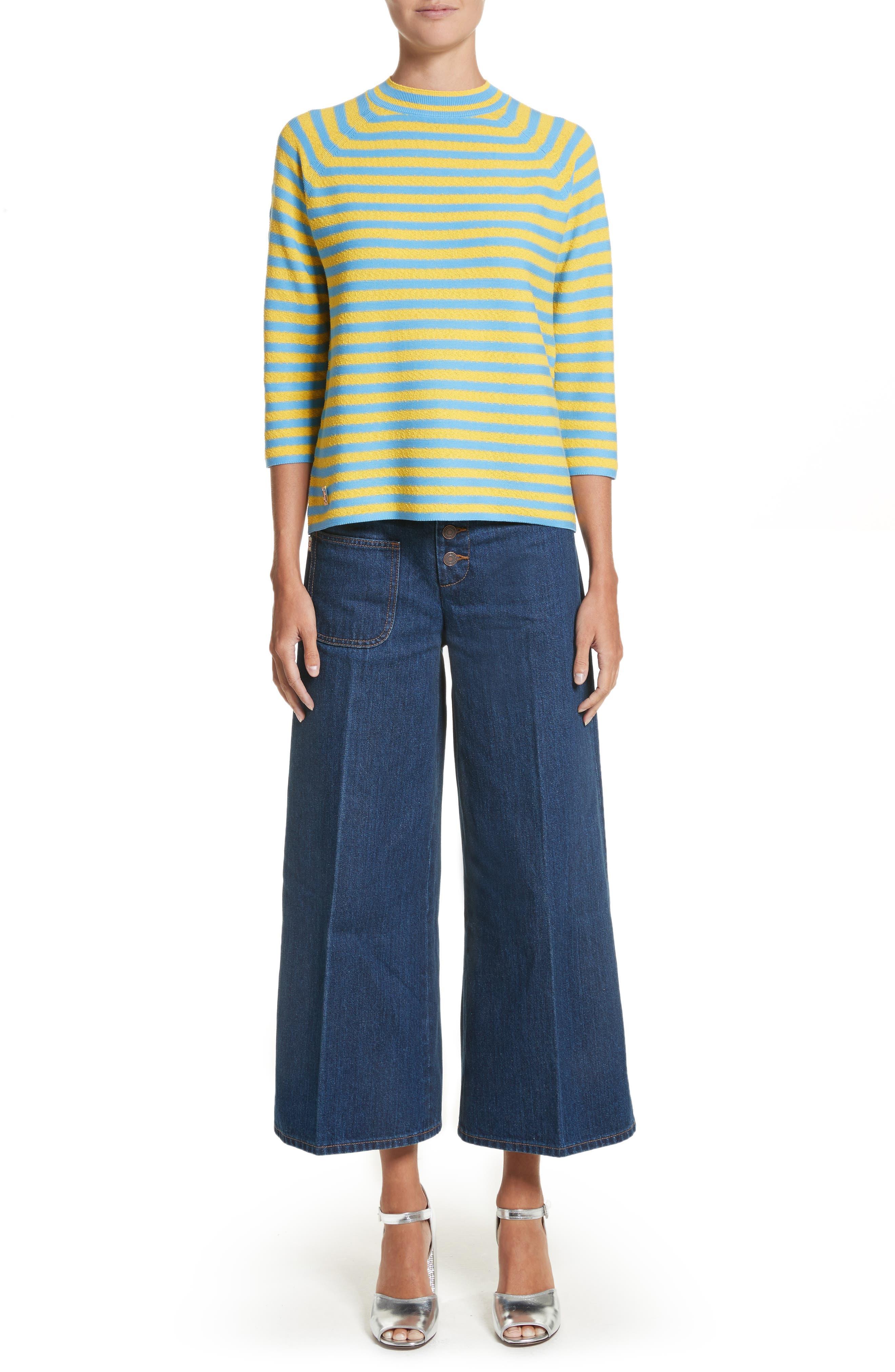 Stripe Mock Neck Sweater,                             Alternate thumbnail 14, color,