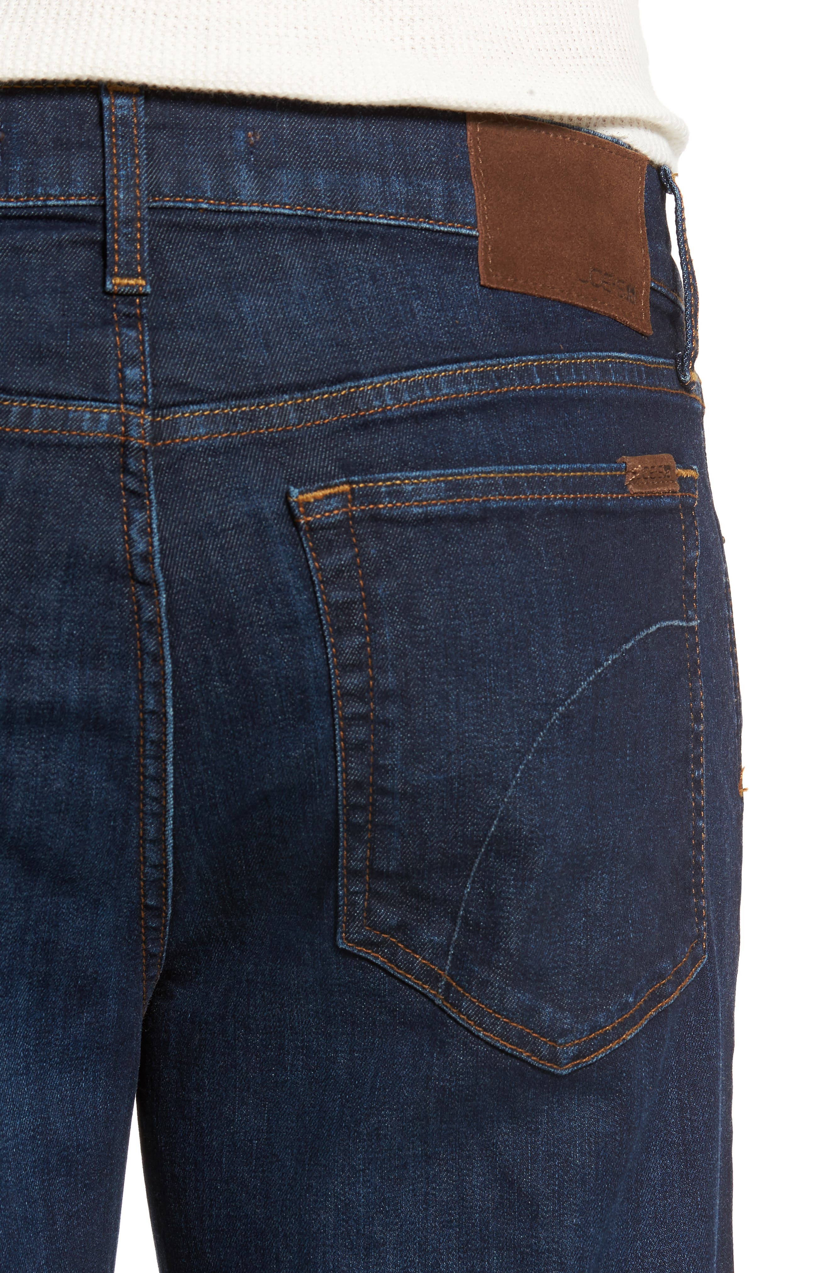 Classic Straight Fit Jeans,                             Alternate thumbnail 4, color,                             402