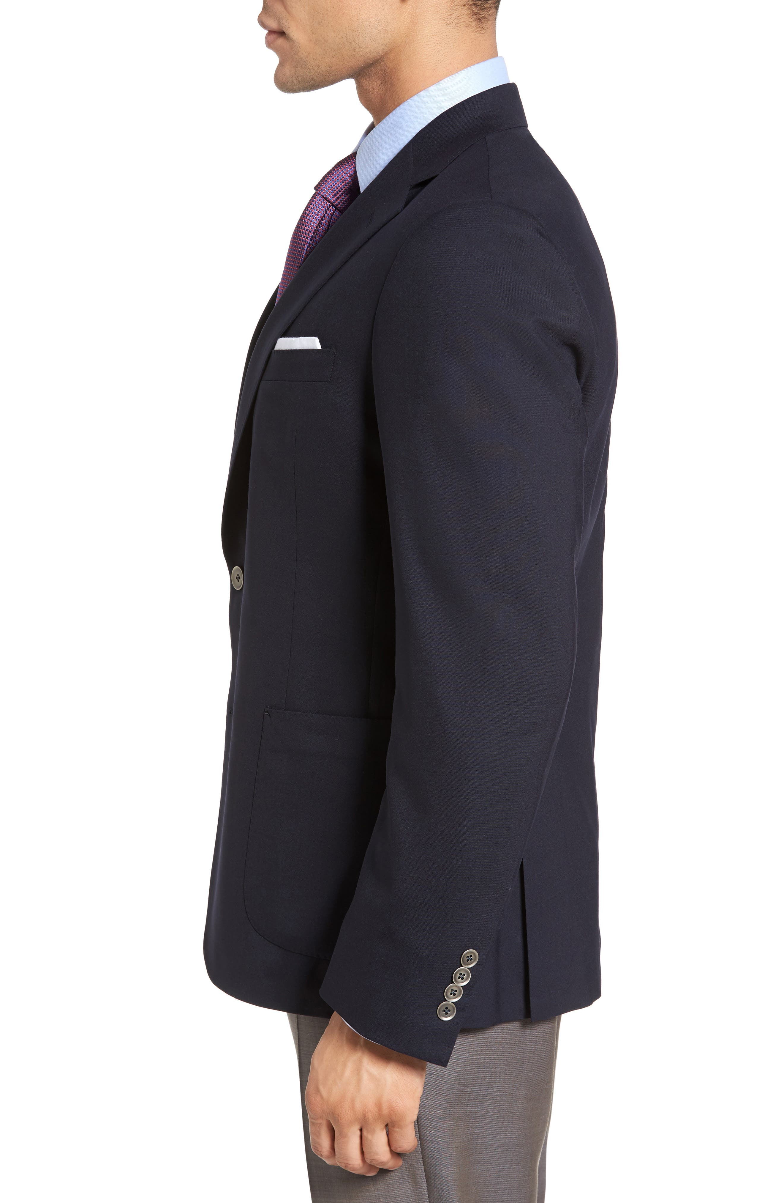 Classic Fit Stretch Wool Travel Blazer,                             Alternate thumbnail 3, color,                             410