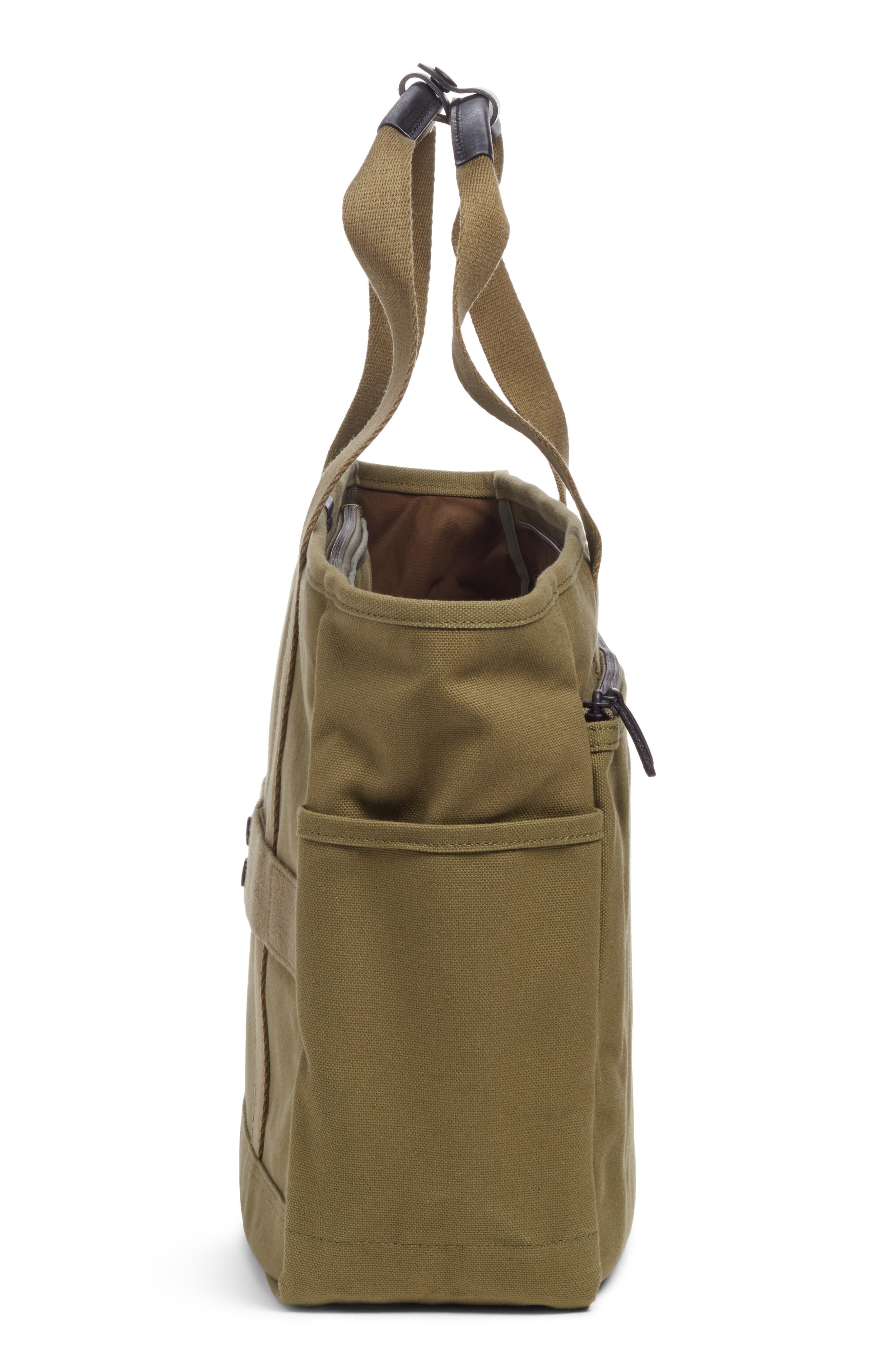 x Porter Travel Tote Bag,                             Alternate thumbnail 5, color,                             OLIVE