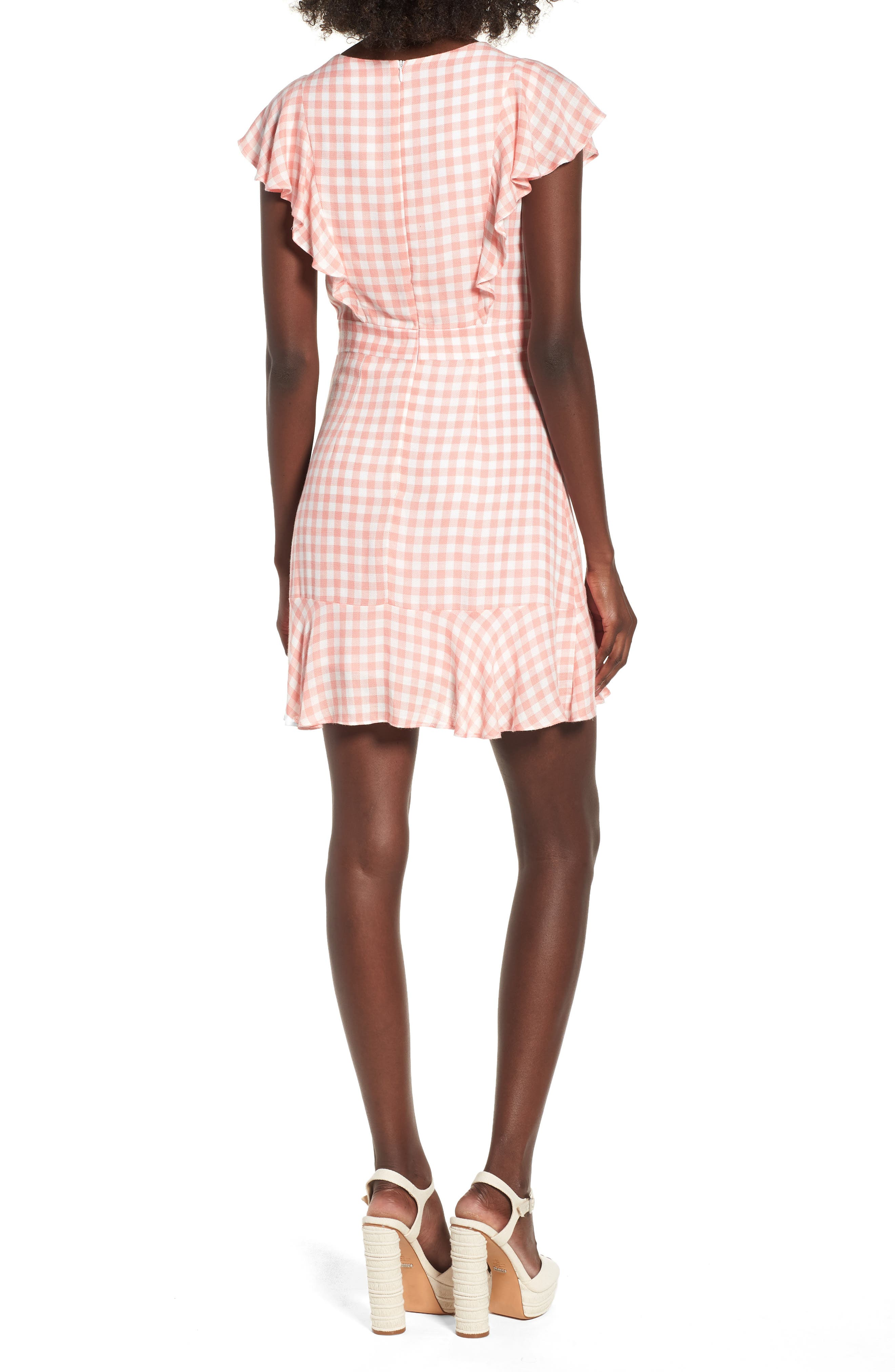 Brunch Ruffle Gingham Dress,                             Alternate thumbnail 2, color,                             693