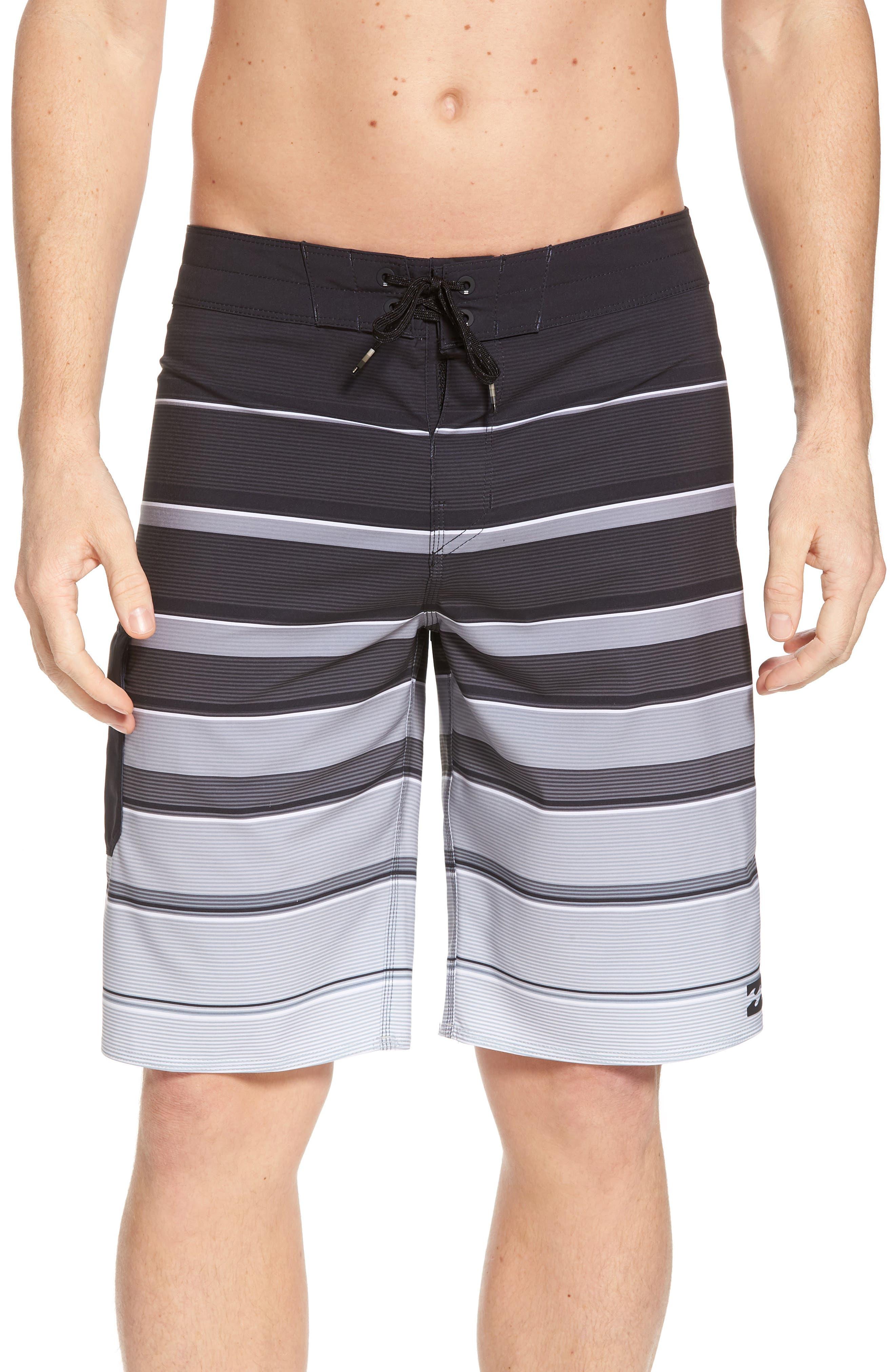 All Day X Stripe Board Shorts,                             Main thumbnail 1, color,                             001