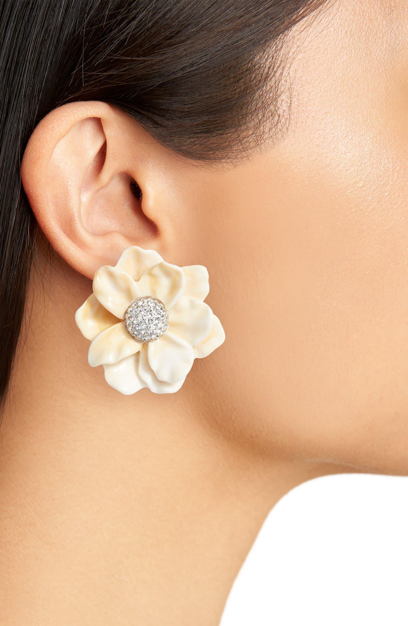 LELE SADOUGHI,                             Oversized Gardenia Stud Earrings,                             Alternate thumbnail 2, color,                             900