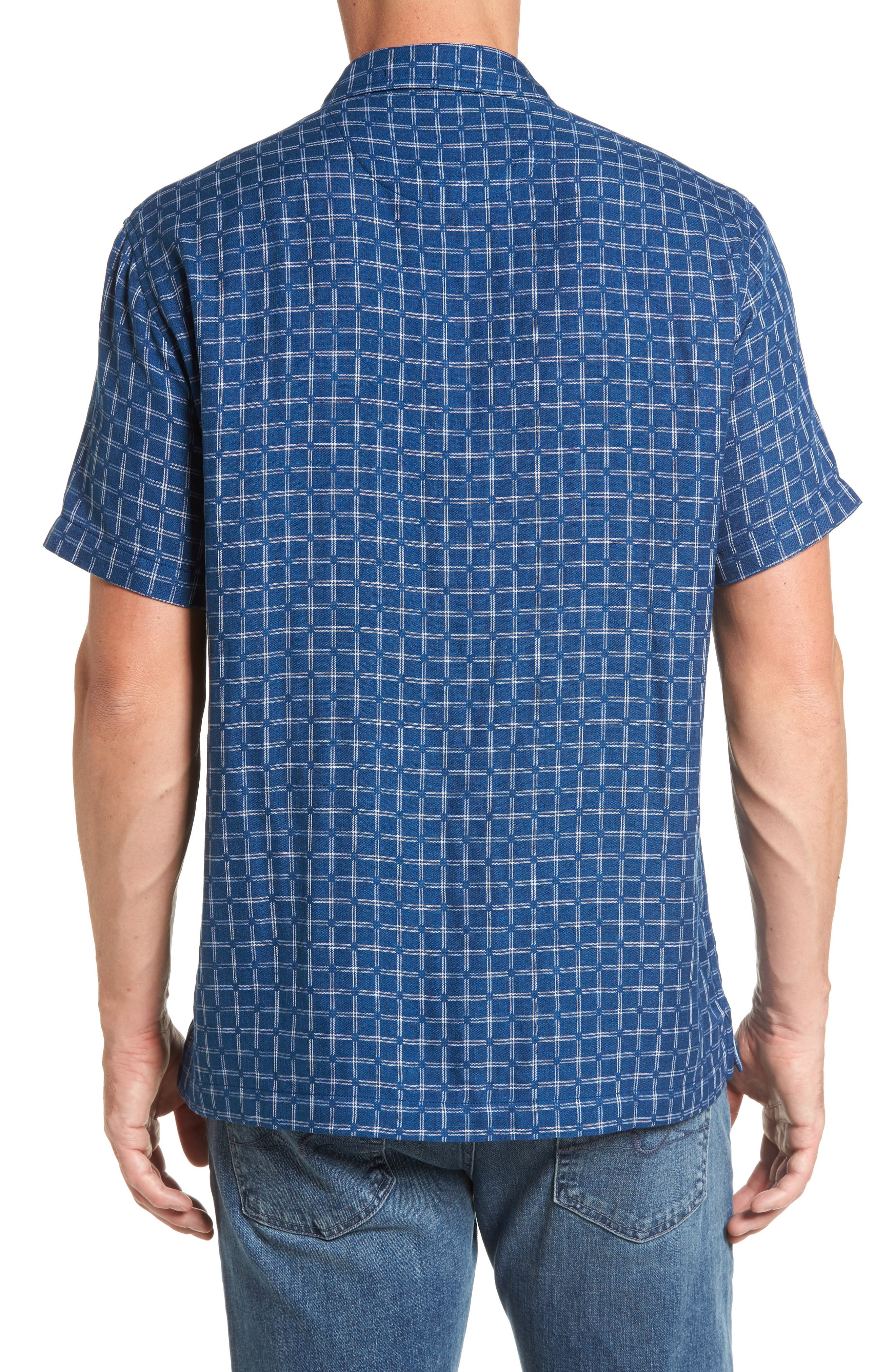 Keep It in Check Standard Fit Silk Blend Camp Shirt,                             Alternate thumbnail 2, color,                             400