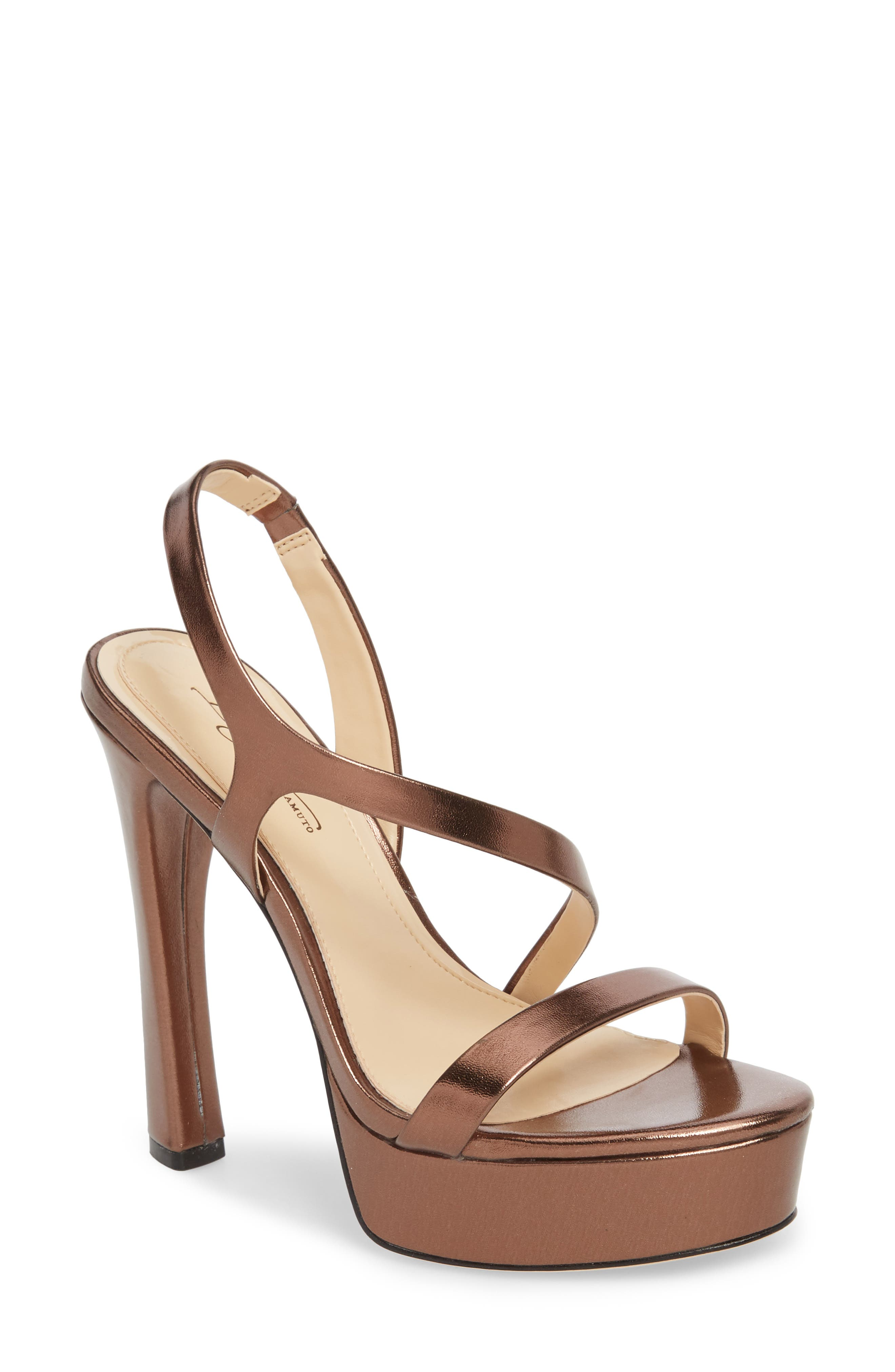 Imagine By Vince Camuto Piera Platform Sandal- Metallic