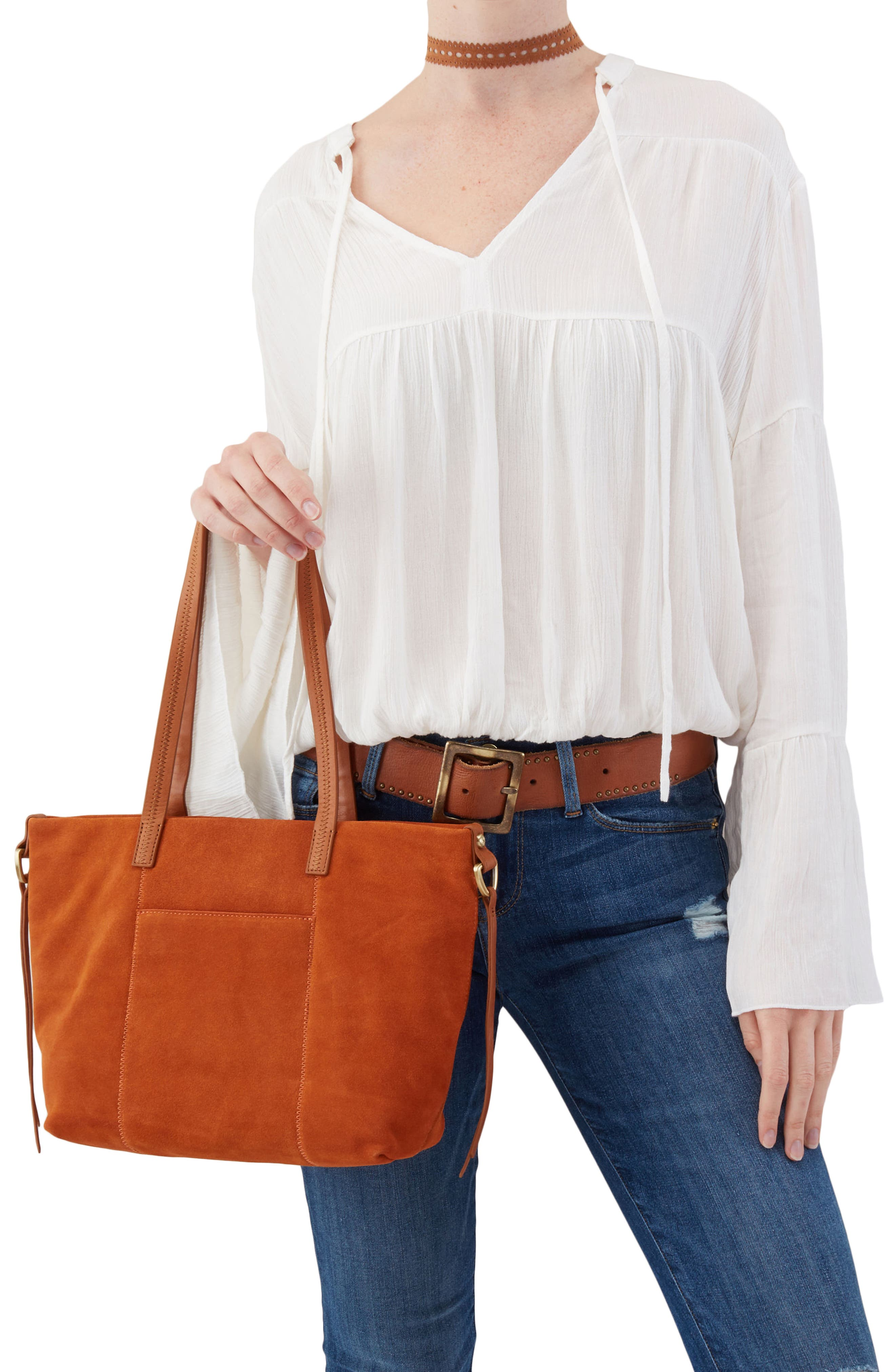 Cecily Leather Tote,                             Alternate thumbnail 7, color,