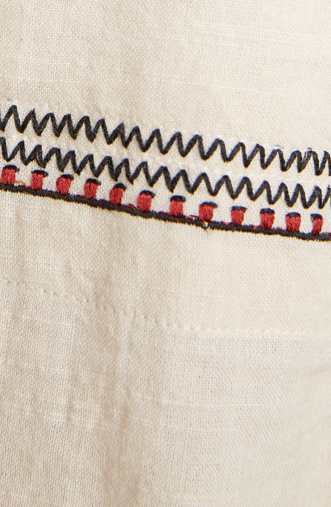 Belissa Embroidered Shift Dress,                             Alternate thumbnail 5, color,                             250