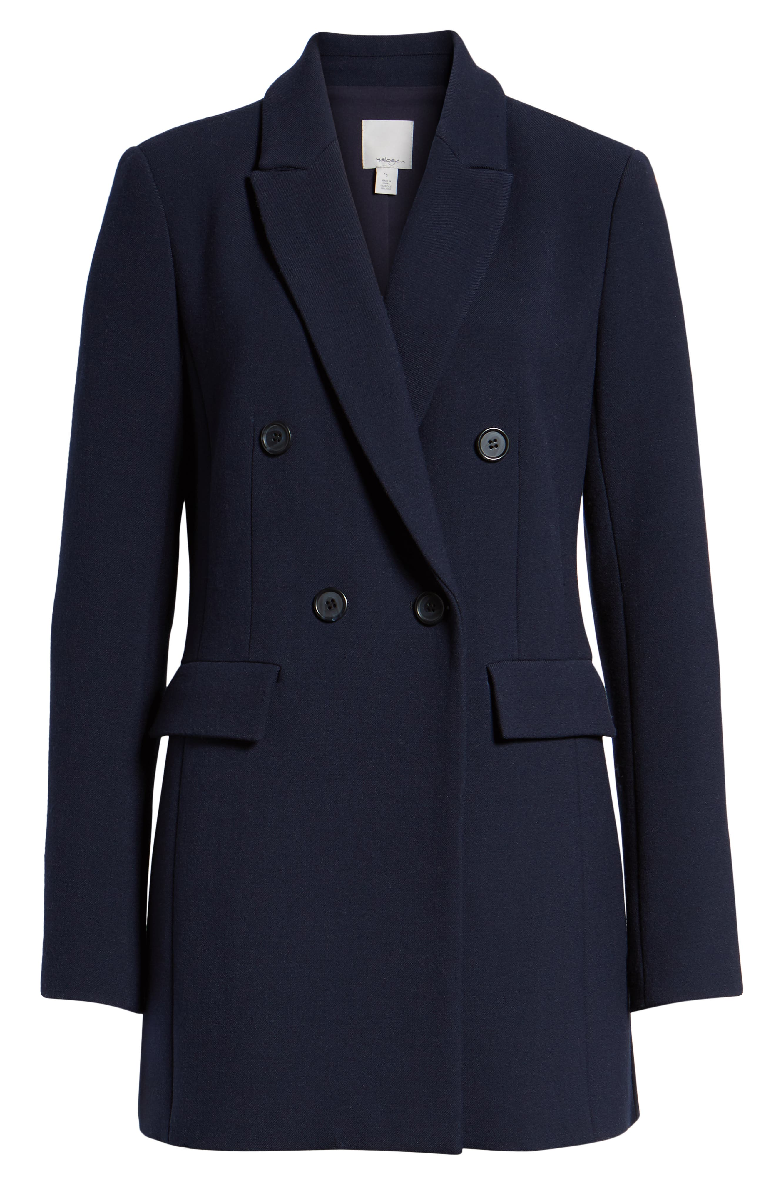 x Atlantic-Pacific Menswear Double Breasted Blazer,                             Alternate thumbnail 7, color,                             NAVY