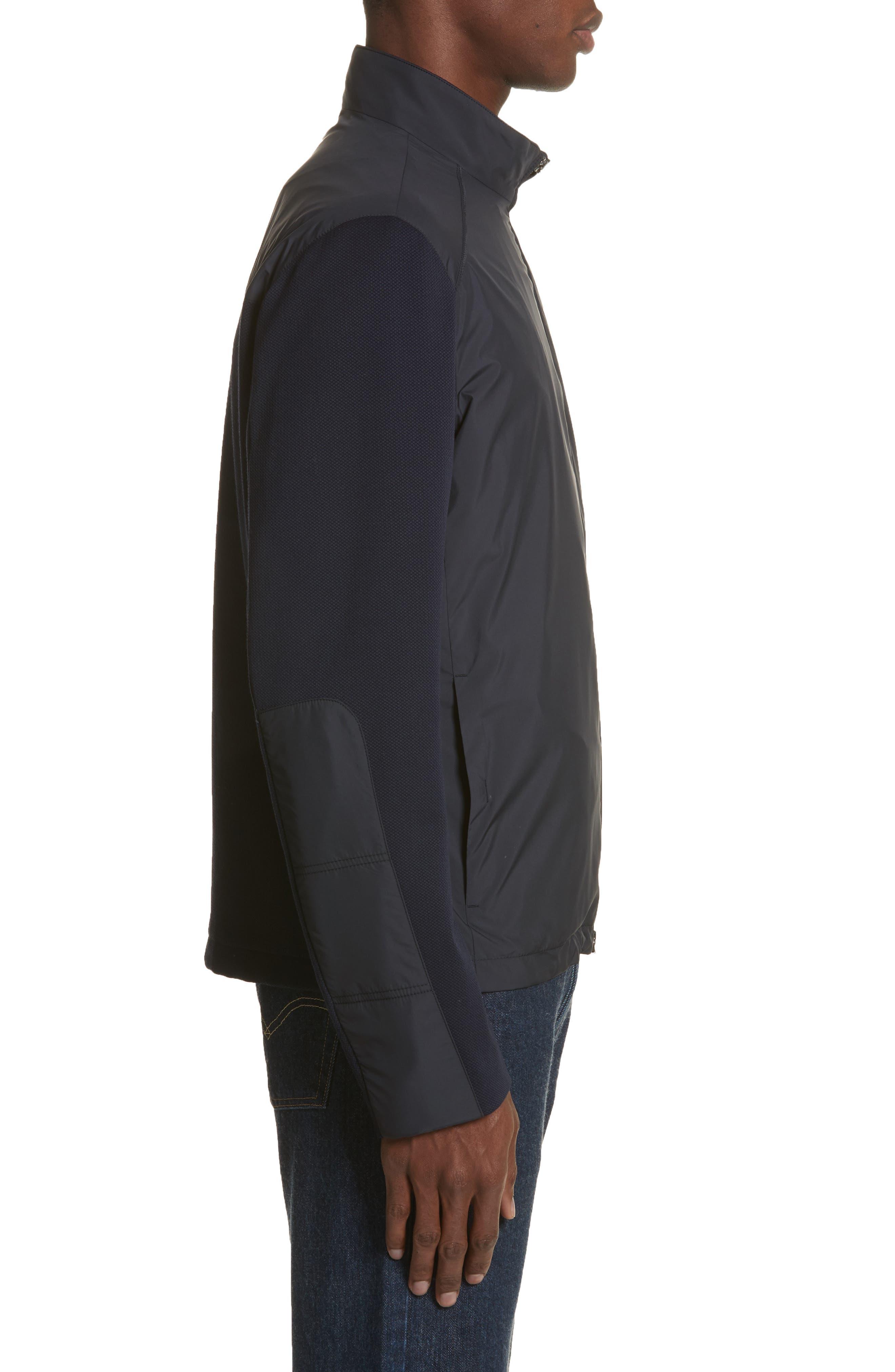 Water Repellent Microfiber Jacket,                             Alternate thumbnail 3, color,