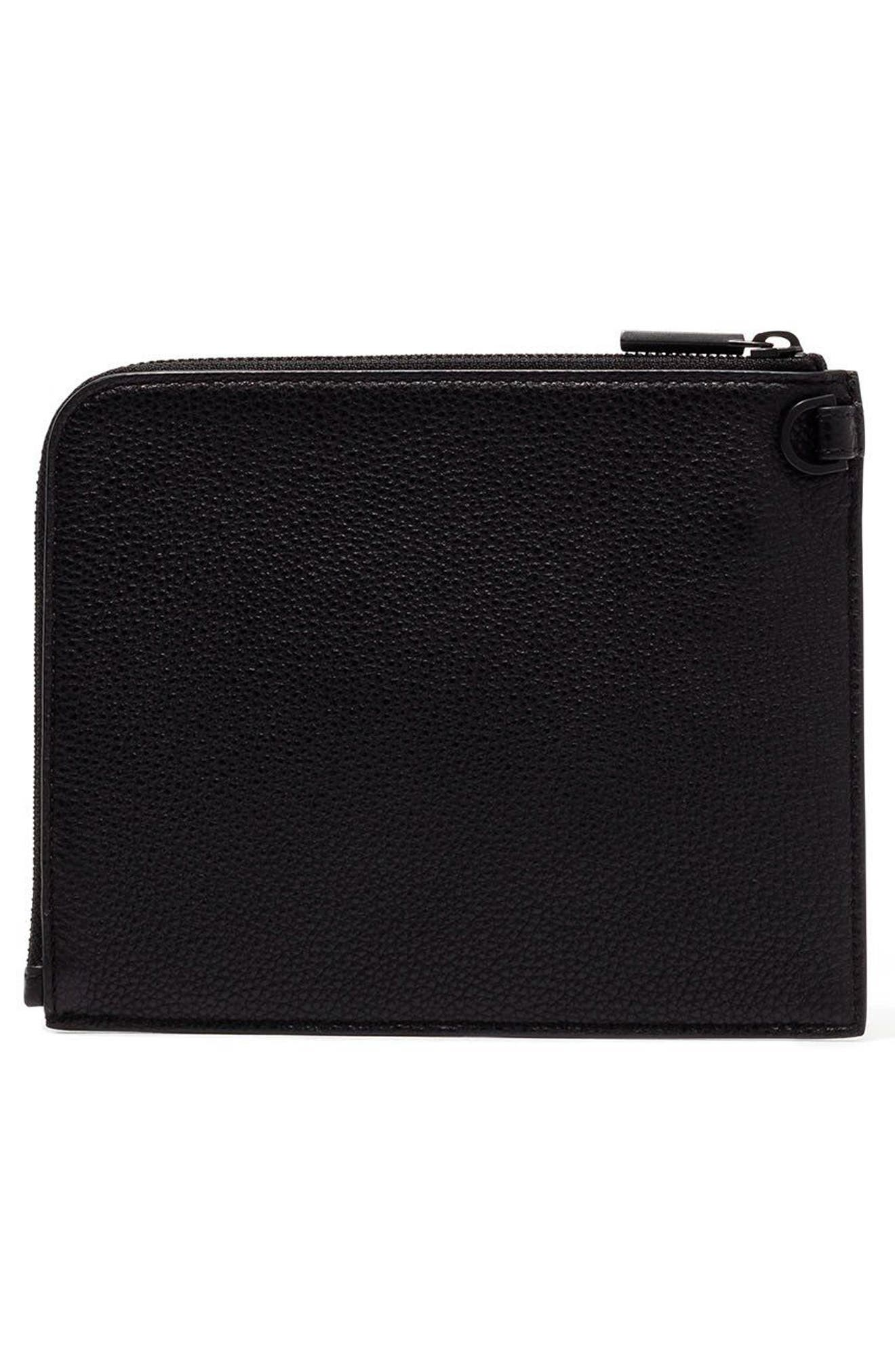 Small Elle Leather Clutch,                             Alternate thumbnail 10, color,