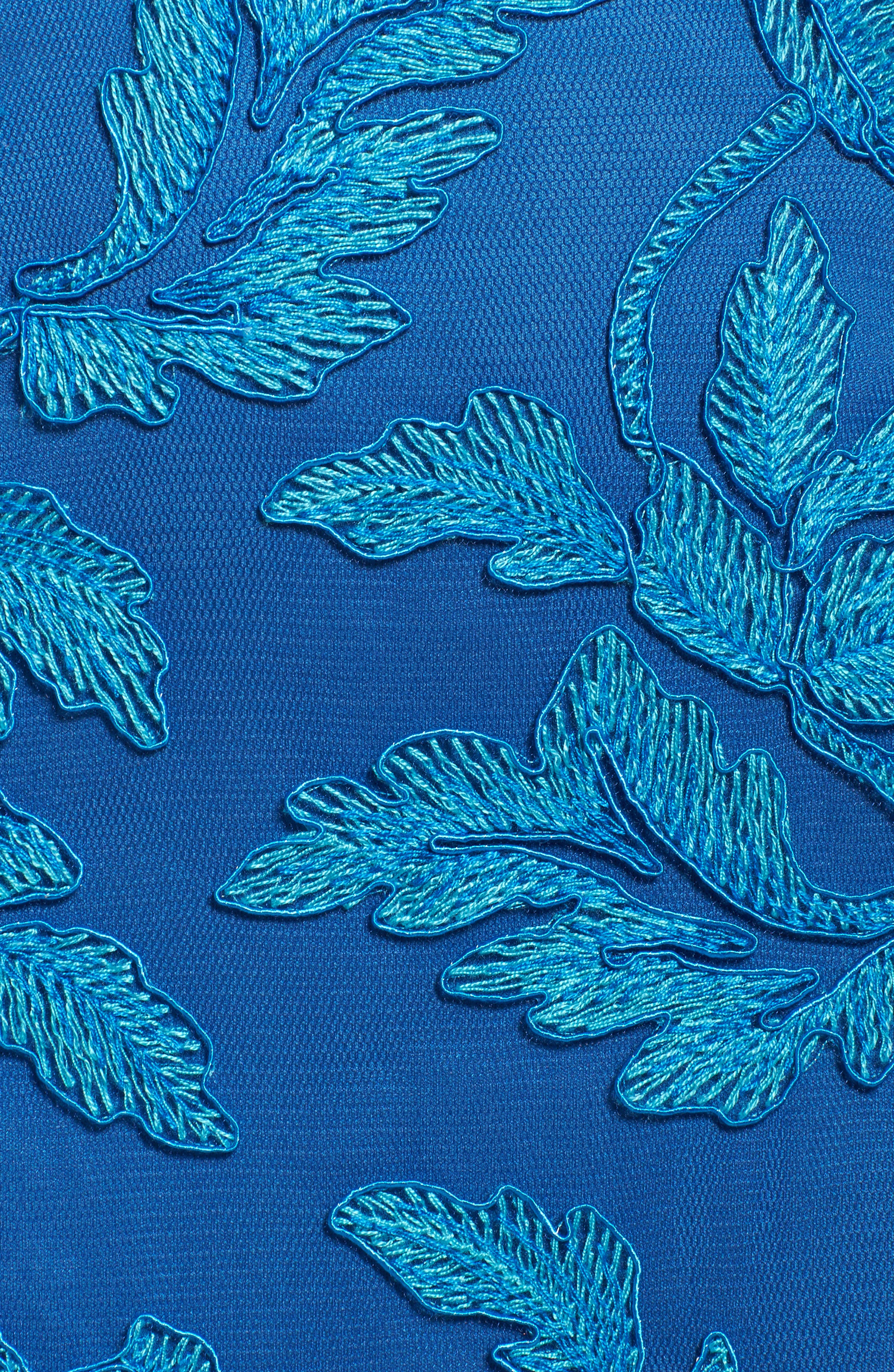 Noelle Floral Fit & Flare Dress,                             Alternate thumbnail 19, color,