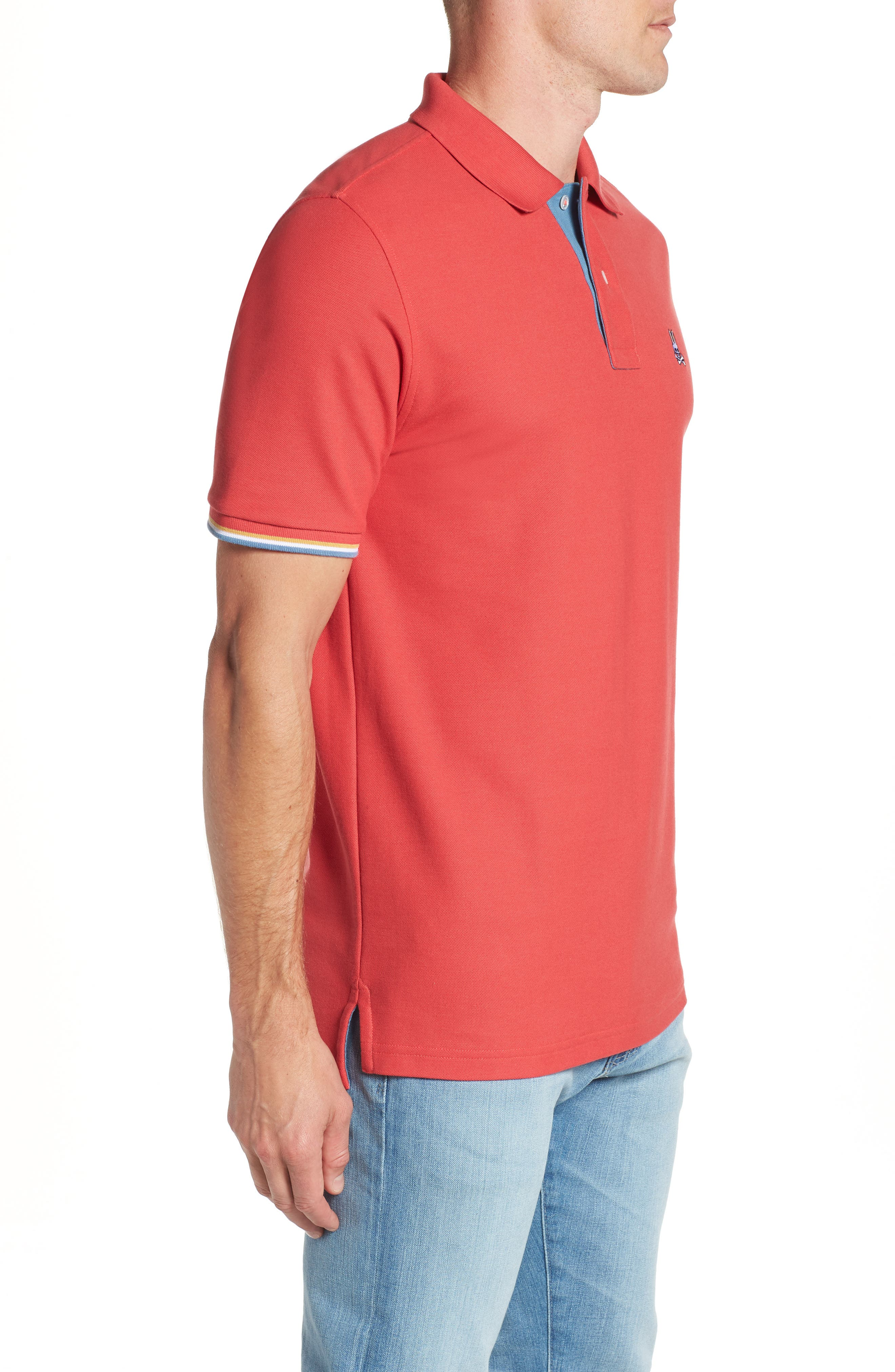 St. Croix Piqué Polo,                             Alternate thumbnail 3, color,                             CASSIS