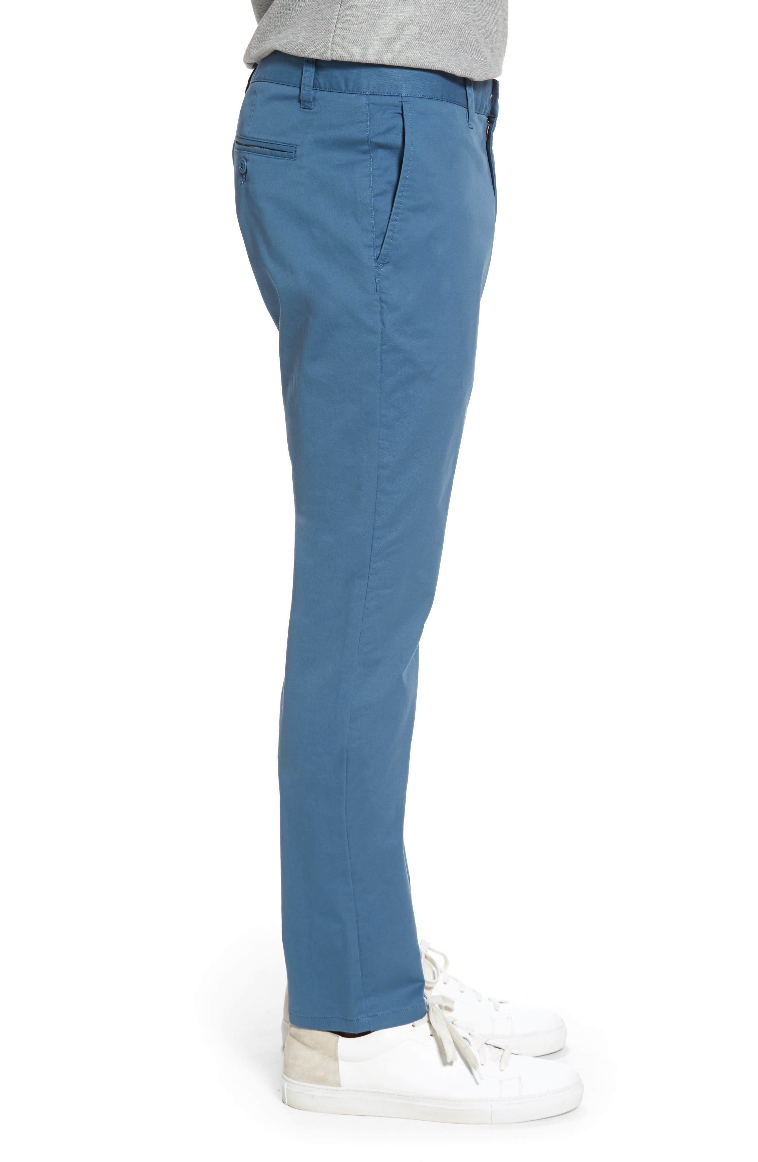 Tailored Fit Washed Stretch Cotton Chinos,                             Alternate thumbnail 83, color,