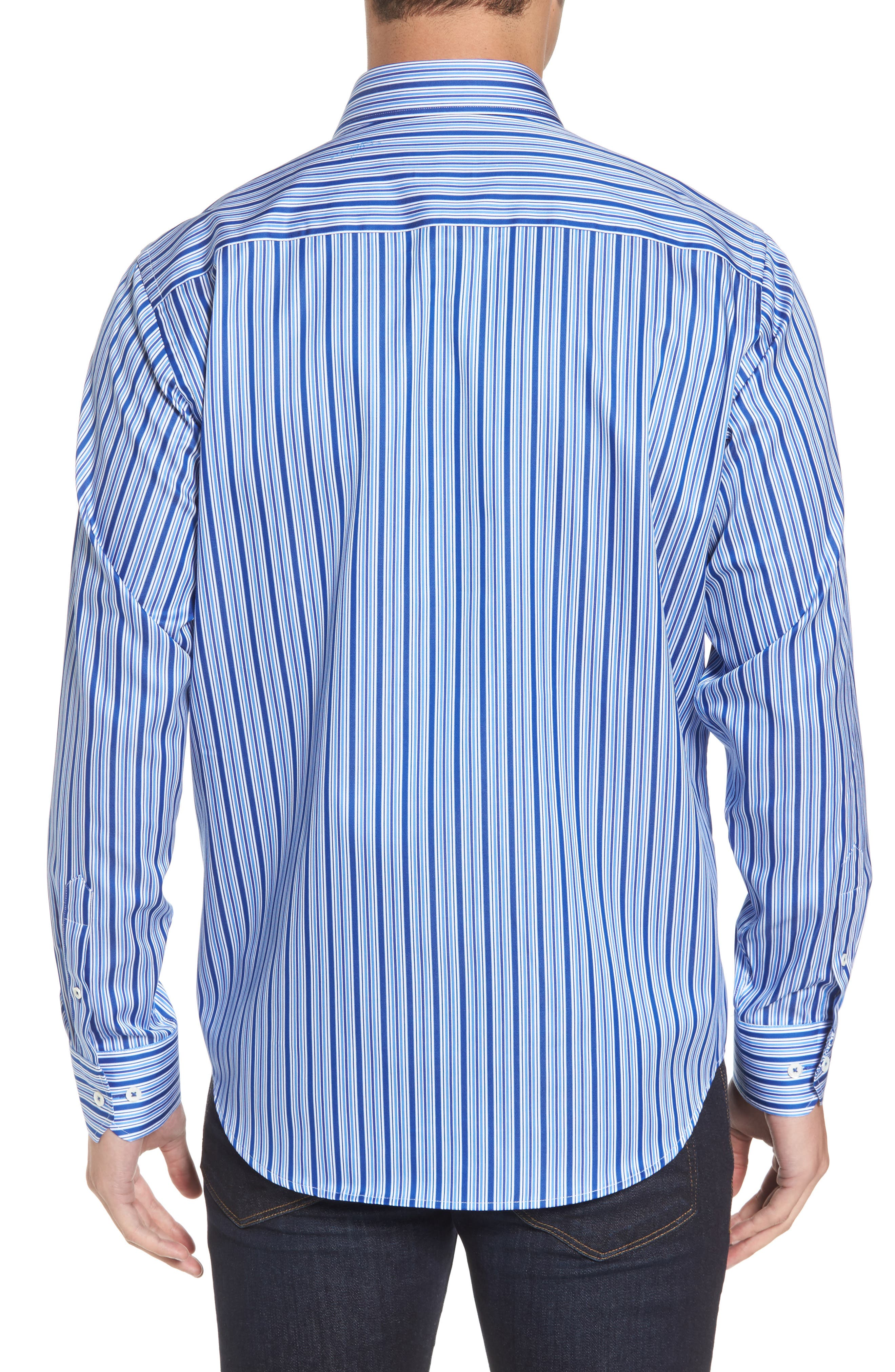 Classic Fit Stripe Sport Shirt,                             Alternate thumbnail 2, color,                             422