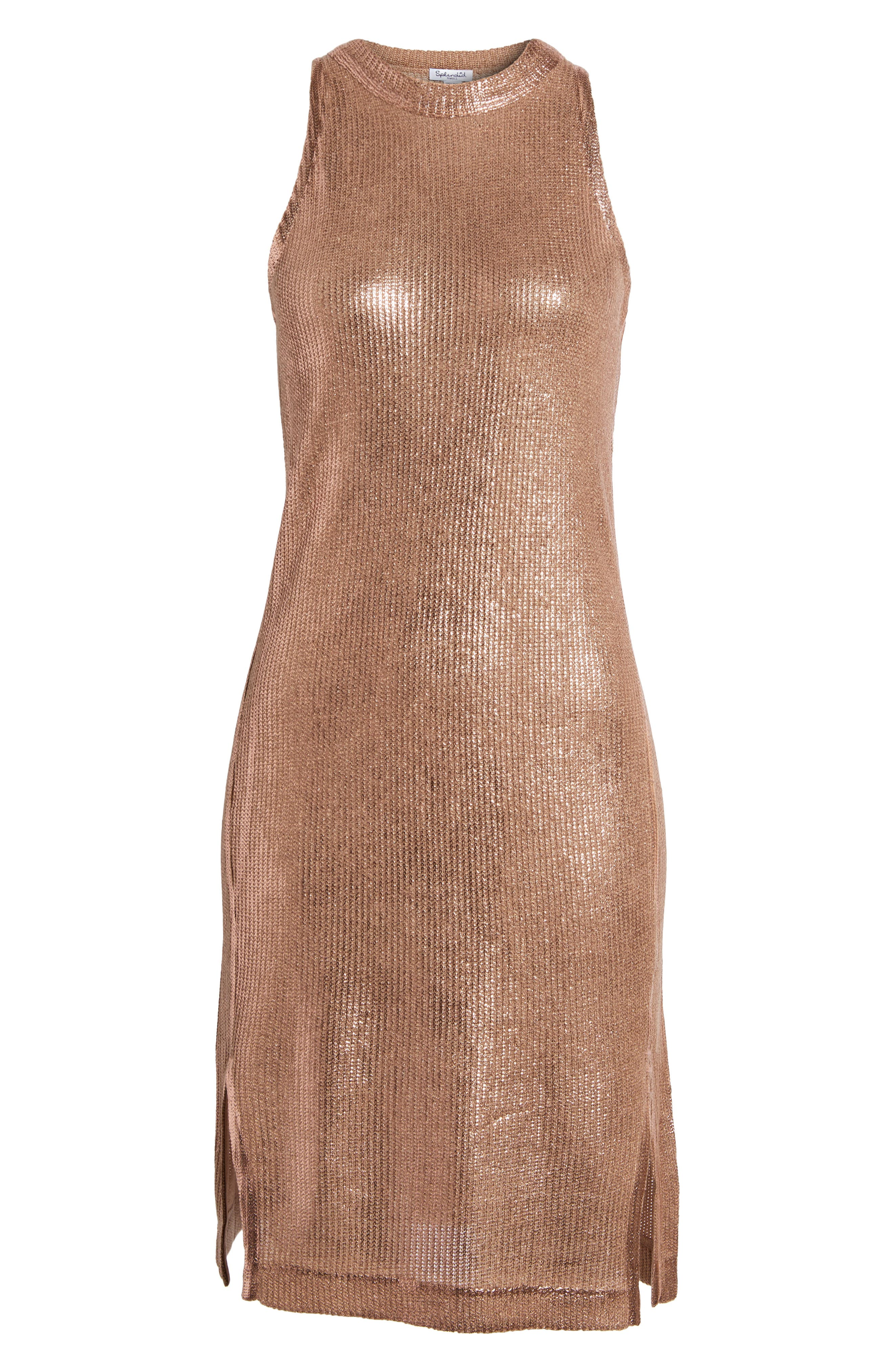 Metallic Coated Dress,                             Alternate thumbnail 12, color,