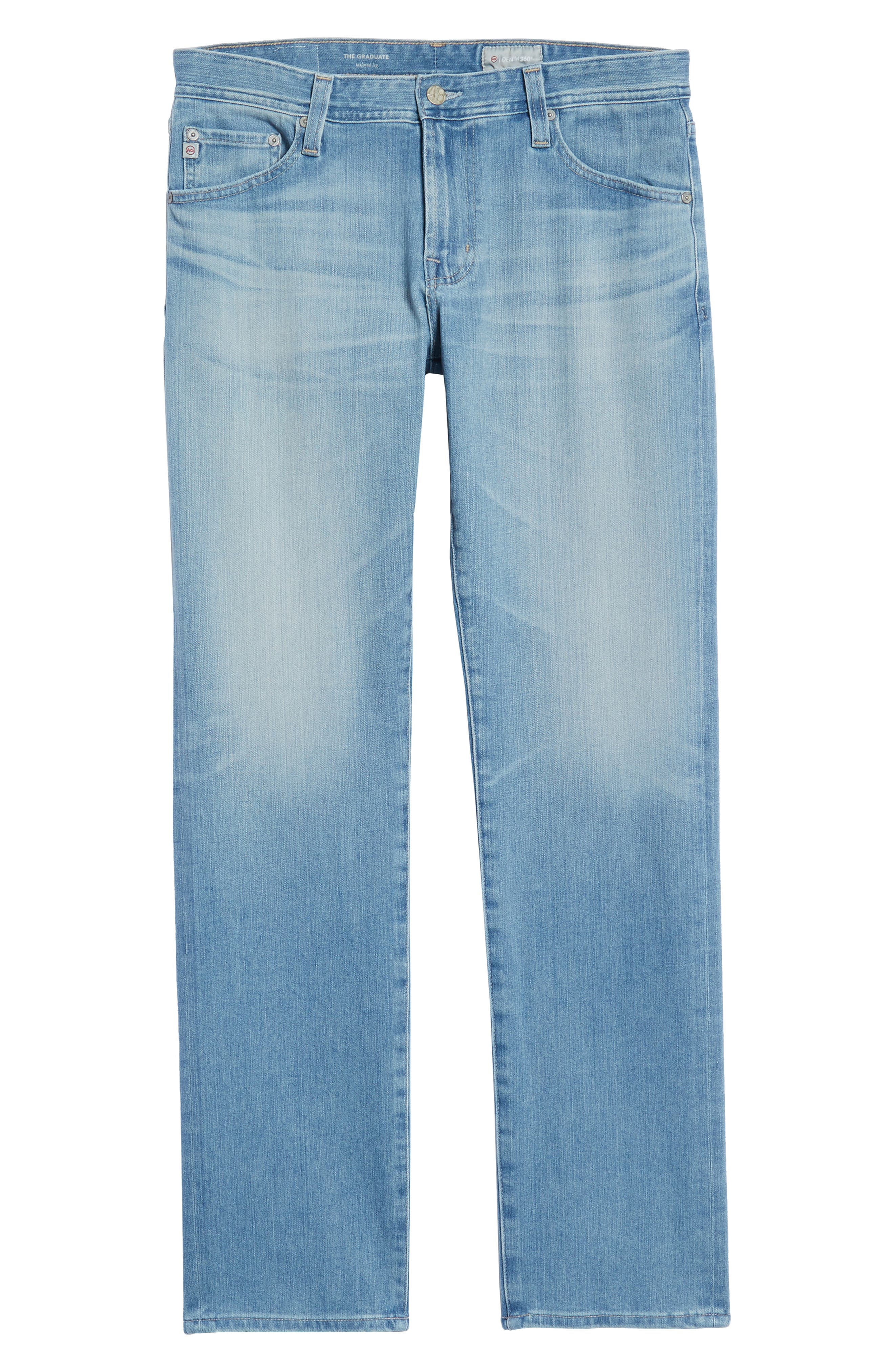 Graduate Slim Straight Leg Jeans,                             Alternate thumbnail 6, color,                             19 YEARS CHANNEL