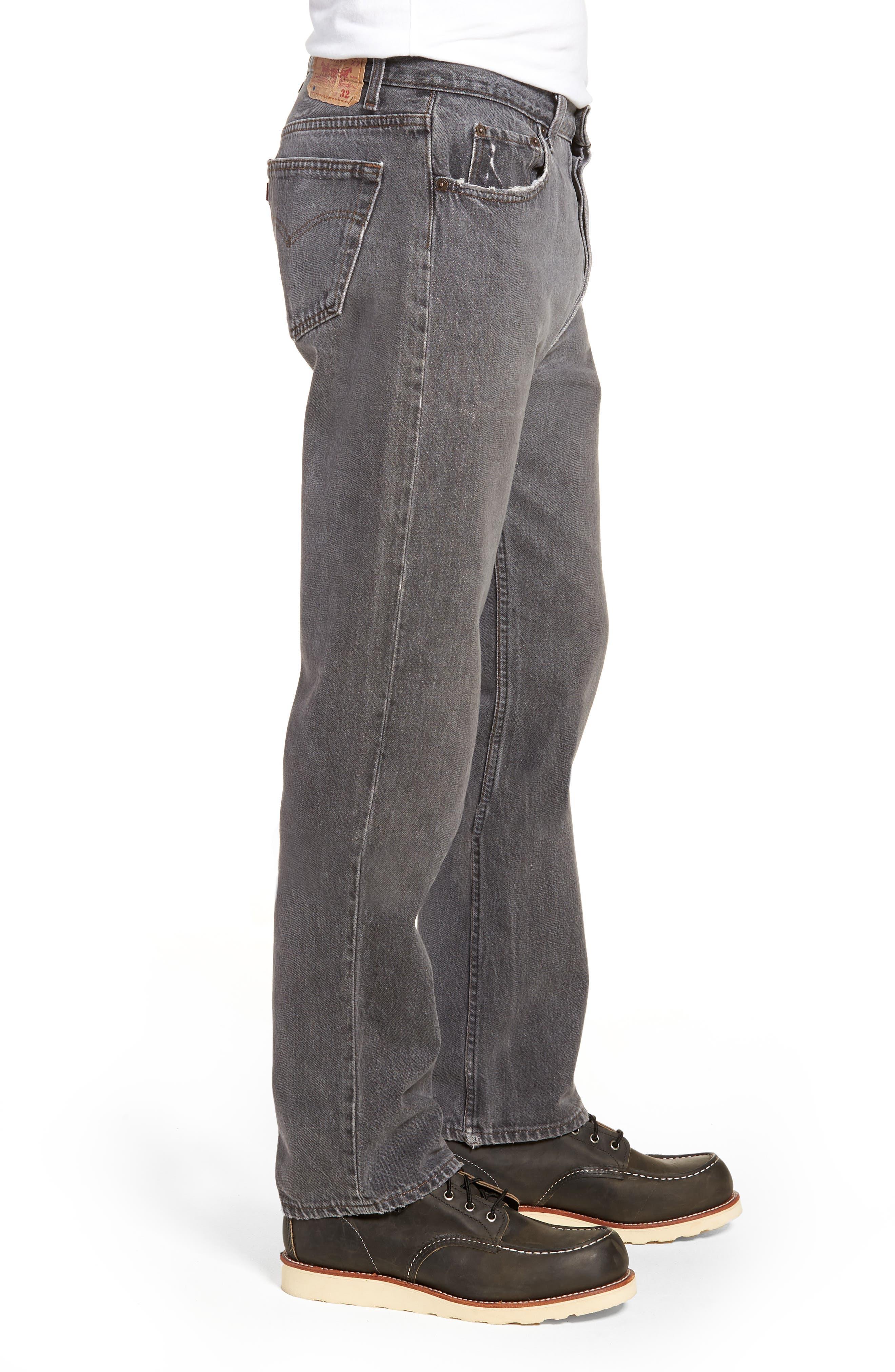 LEVI'S<SUP>®</SUP>,                             Authorized Vintage 501<sup>™</sup> Original Fit Jeans,                             Alternate thumbnail 3, color,                             AV BLACK