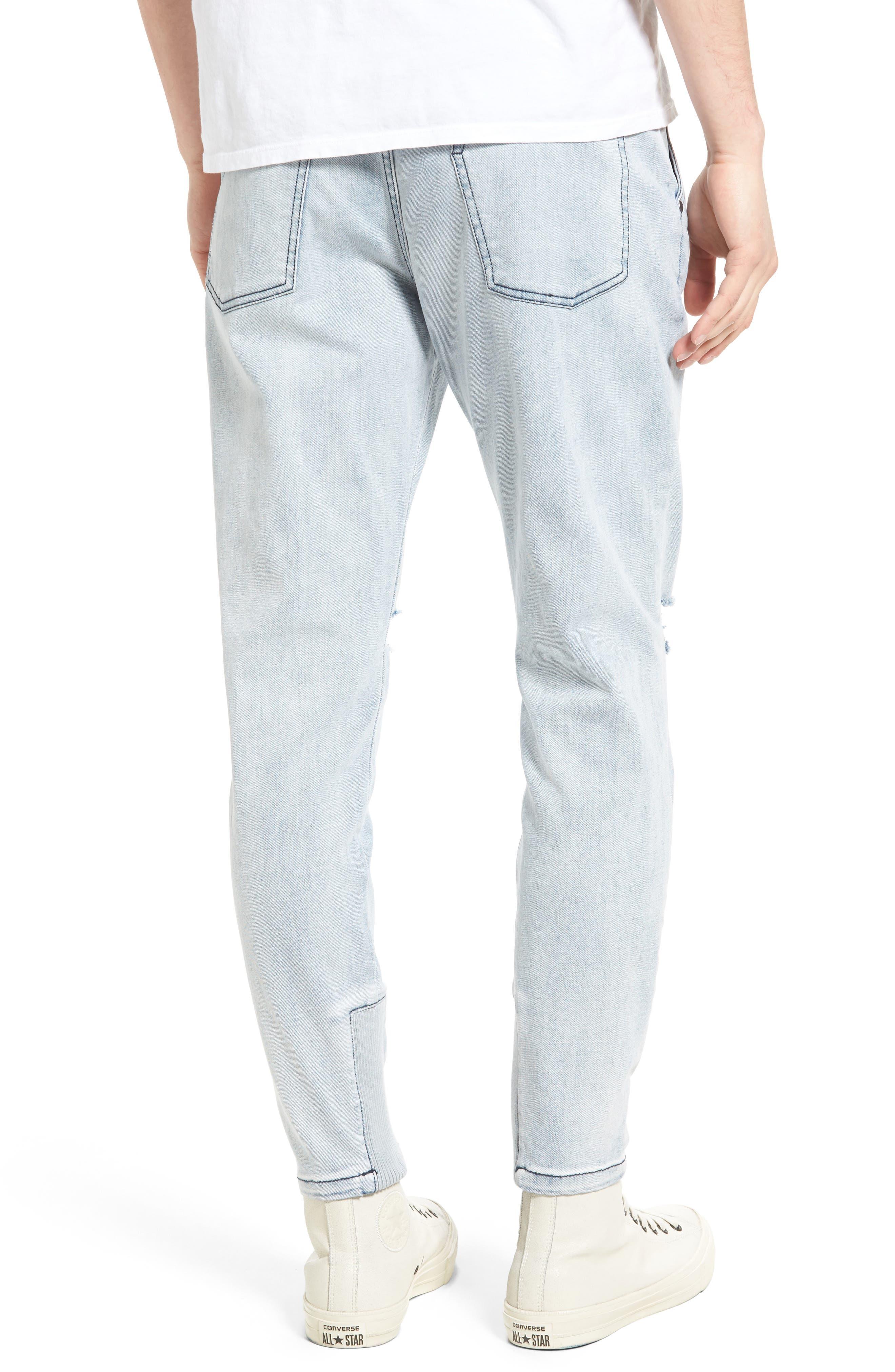 Sharpshot Slouchy Skinny Fit Denim Pants,                             Alternate thumbnail 4, color,