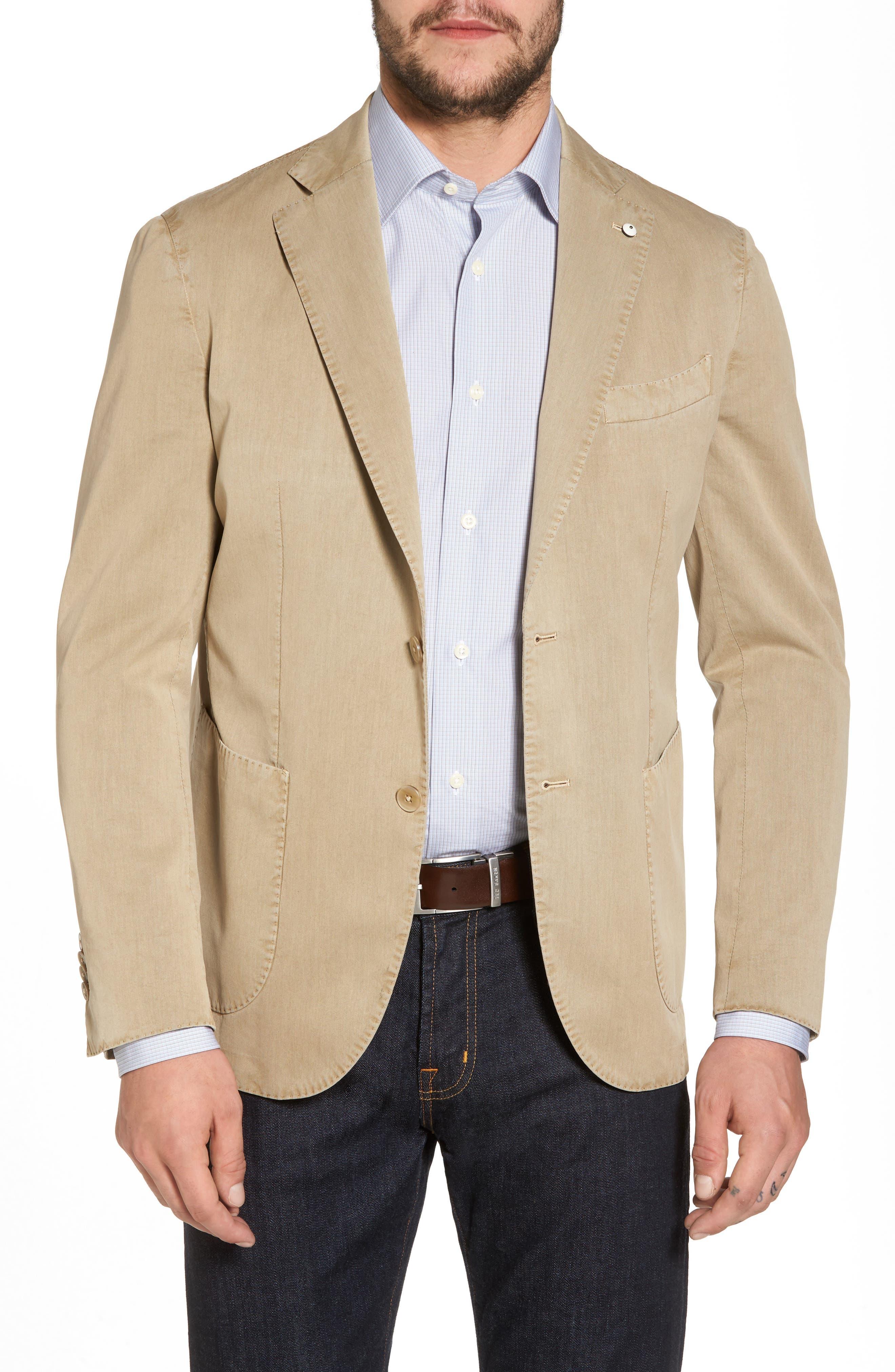 Classic Fit Cotton & Silk Blazer,                             Main thumbnail 1, color,