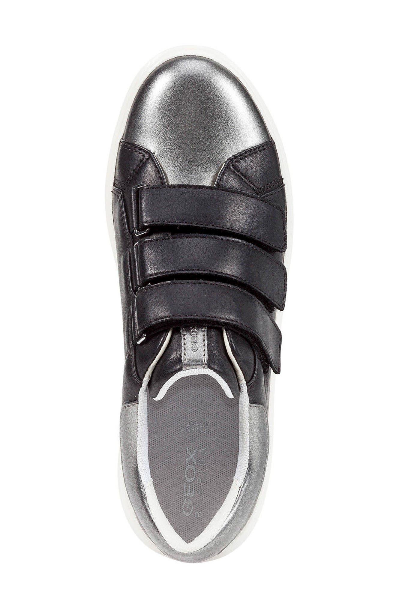 Nhenbus 3 Sneaker,                             Alternate thumbnail 4, color,                             BLACK LEATHER
