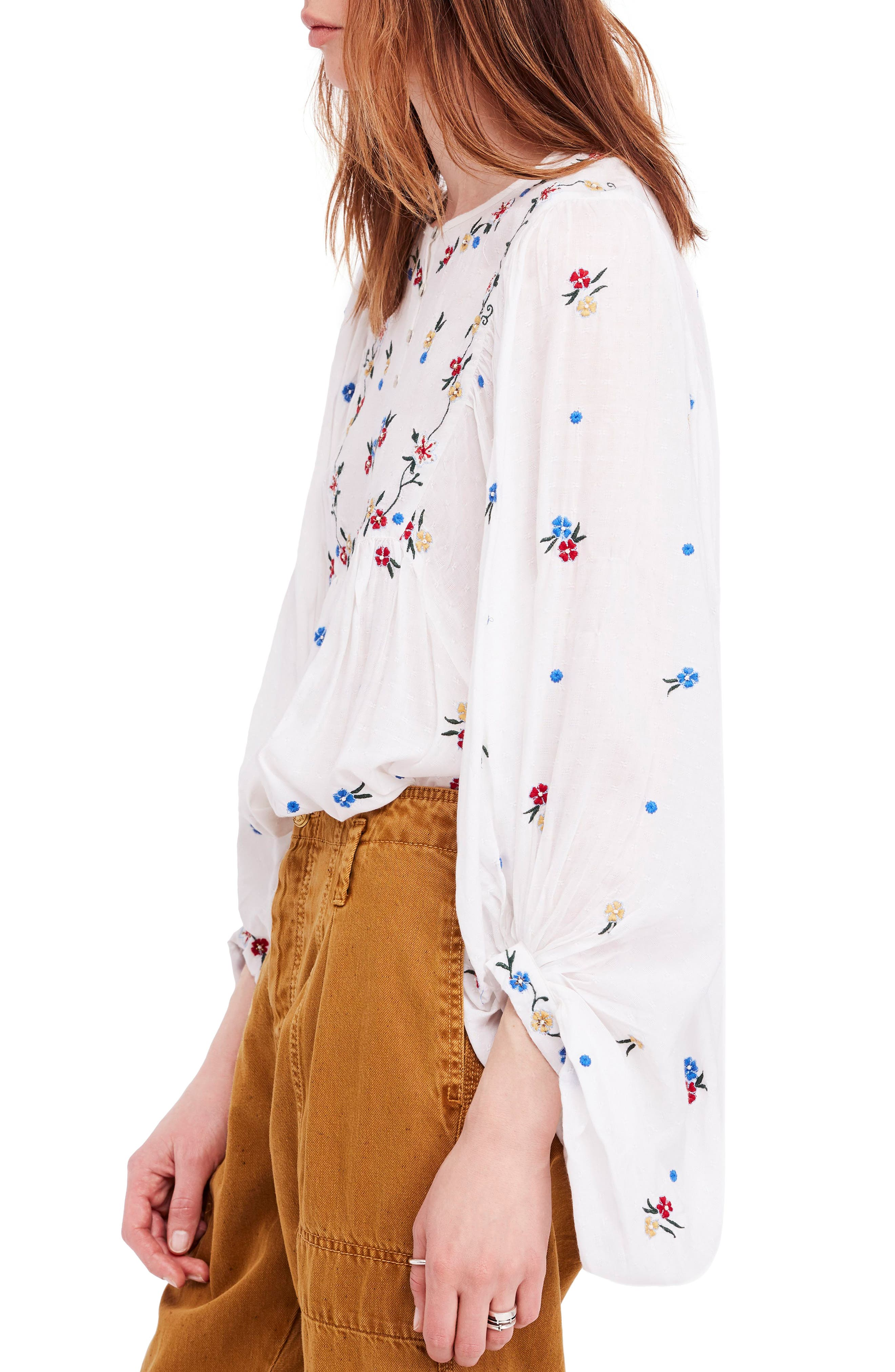 Kiss from a Rose Tunic,                             Alternate thumbnail 3, color,                             IVORY