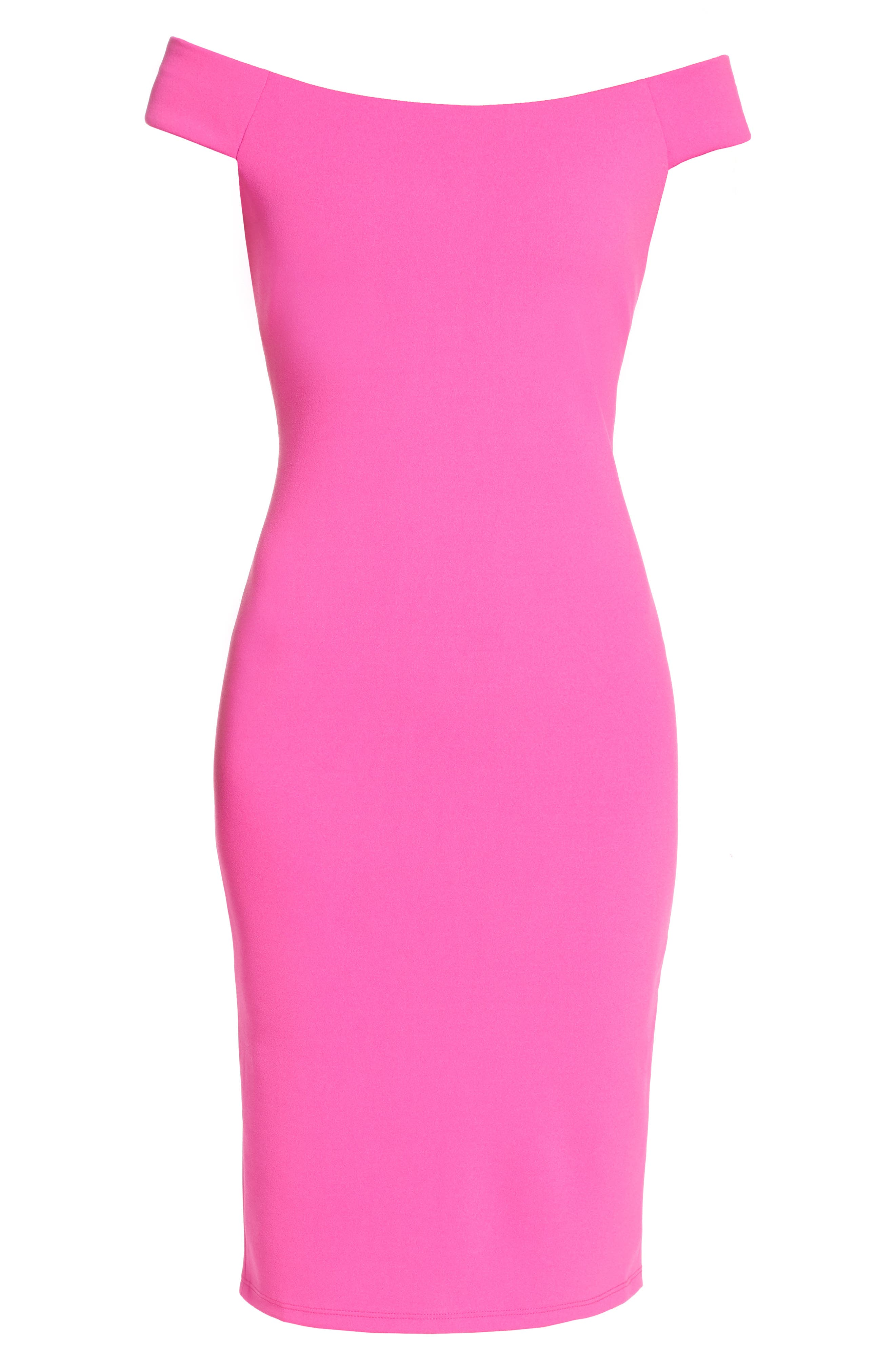 Off the Shoulder Sheath Dress,                             Alternate thumbnail 24, color,
