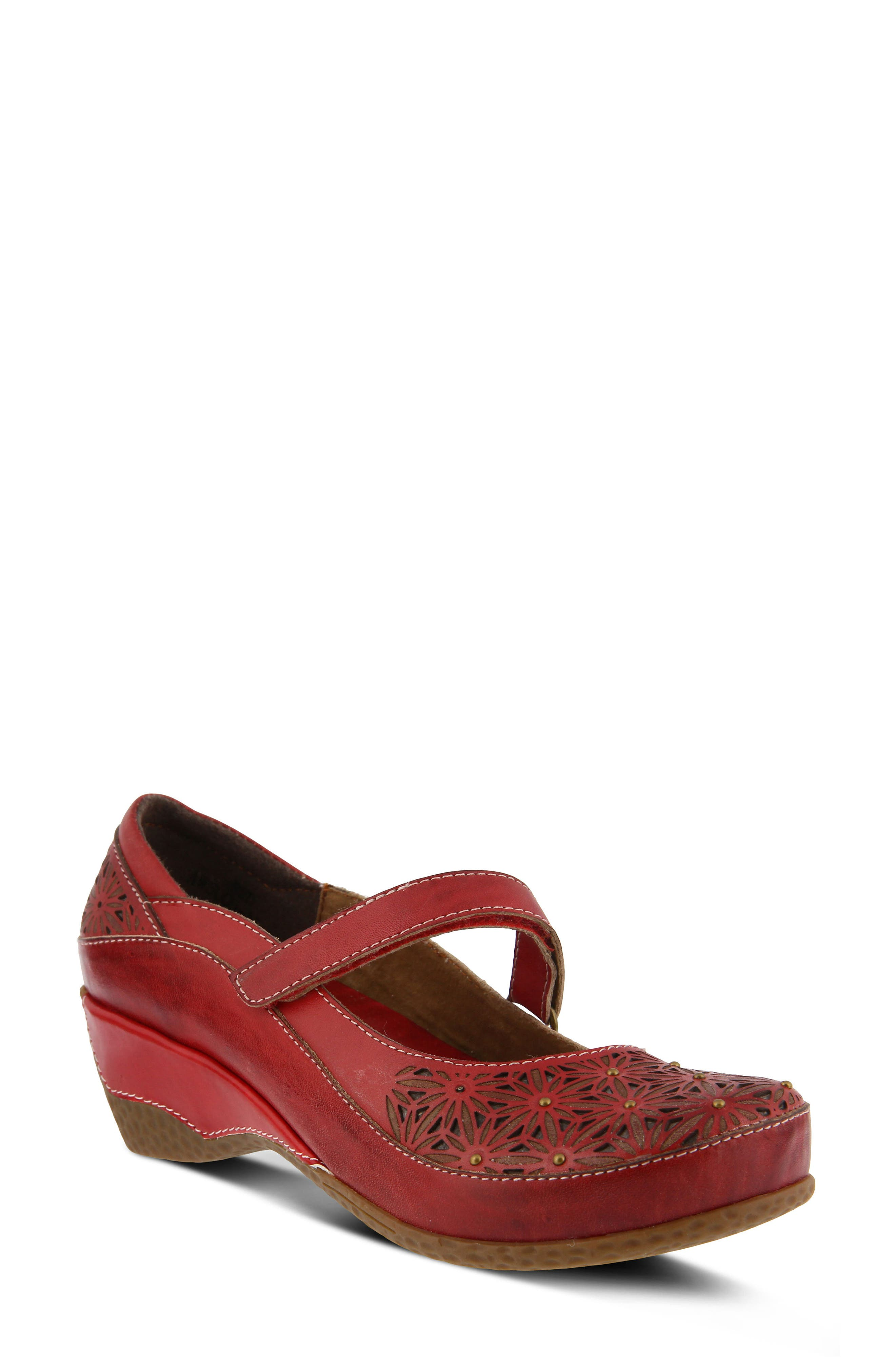 Finlandia Pump,                         Main,                         color, RED LEATHER
