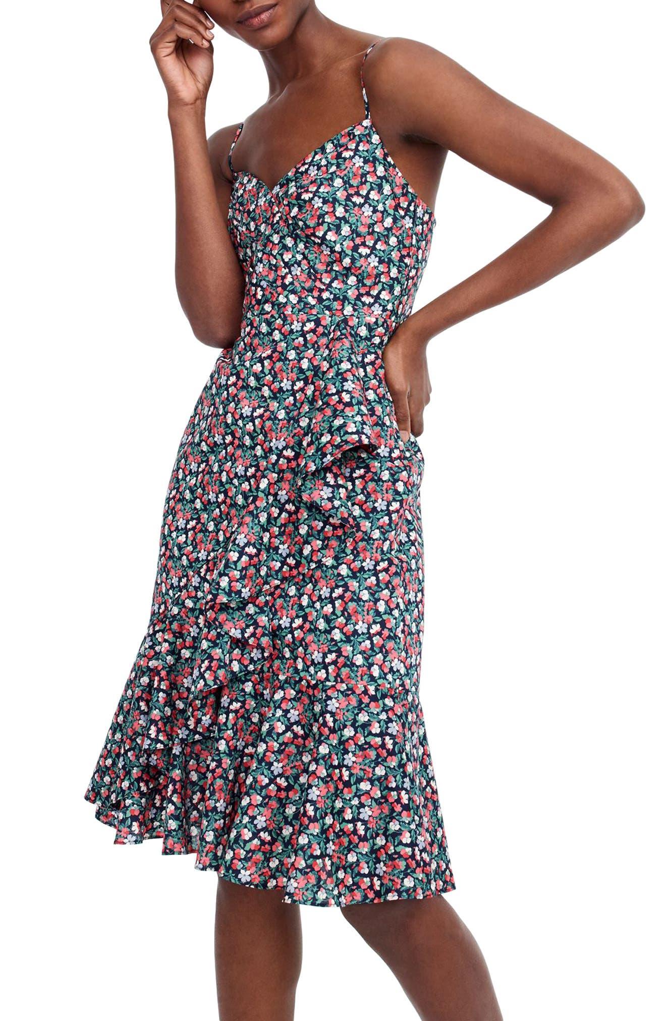 Liberty<sup>®</sup> Sarah Ruffle Dress,                         Main,                         color, 400
