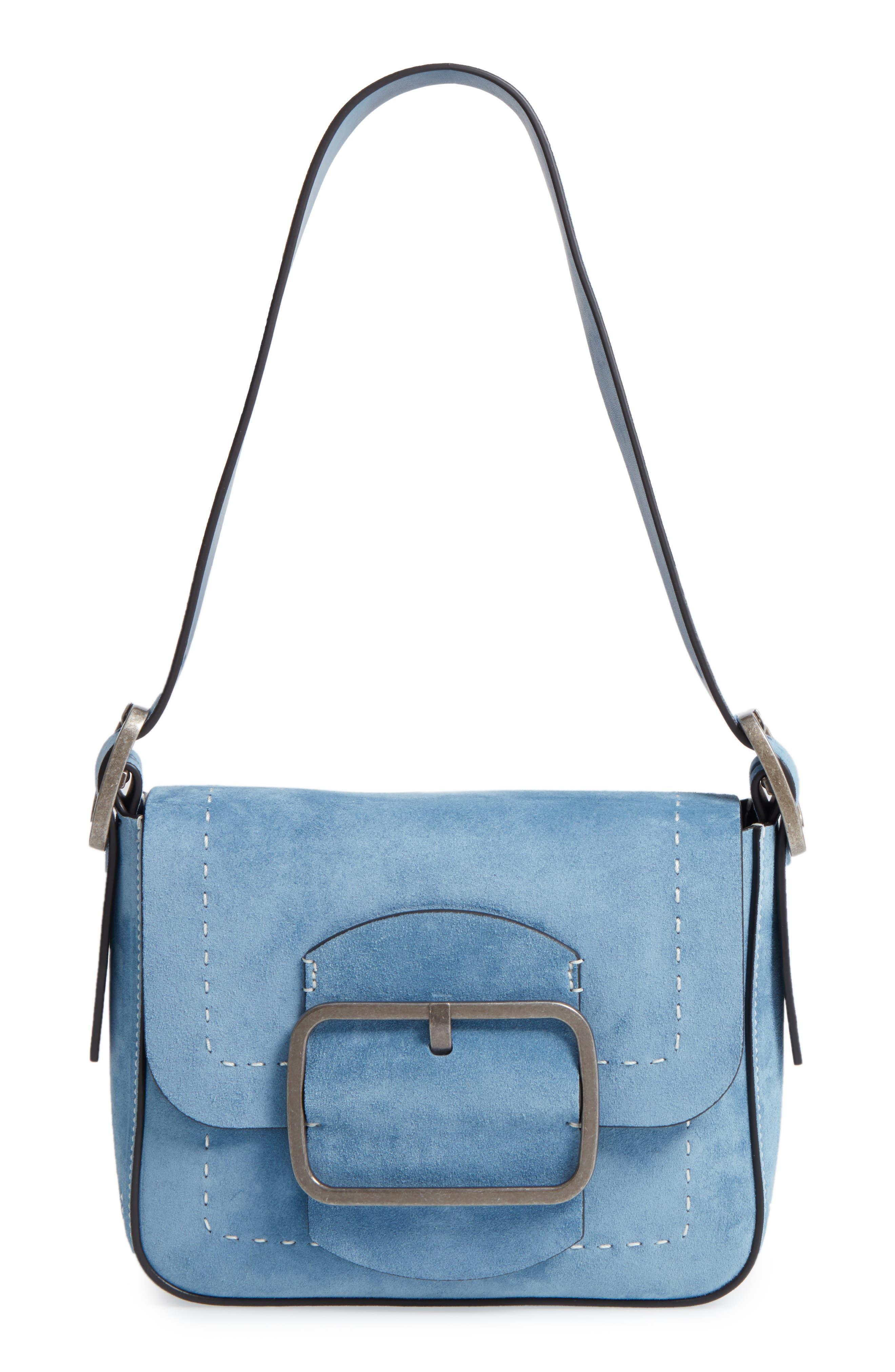 Small Sawyer Suede Shoulder Bag,                         Main,                         color,