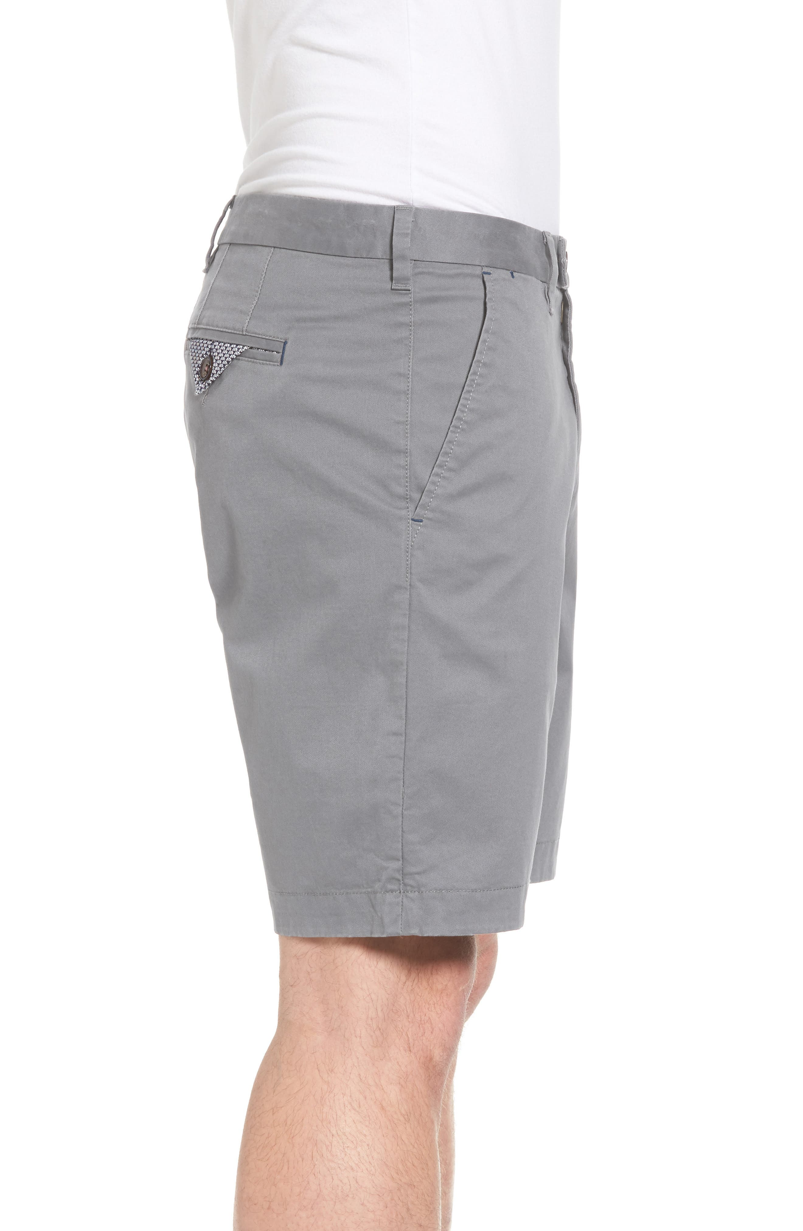 Proshor Slim Fit Chino Shorts,                             Alternate thumbnail 3, color,                             050