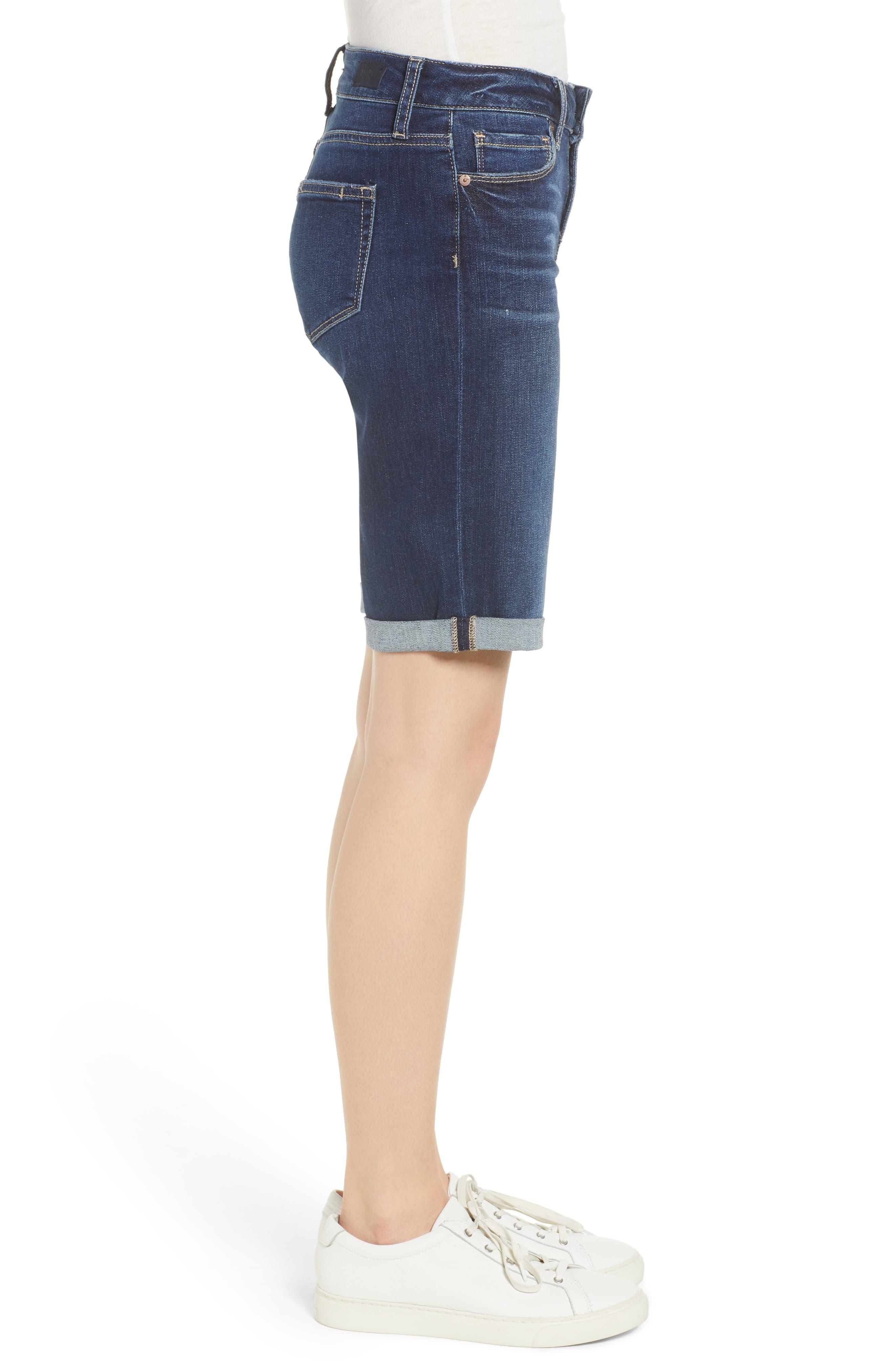 Transcend Vintage - Jax Denim Bermuda Shorts,                             Alternate thumbnail 3, color,                             400