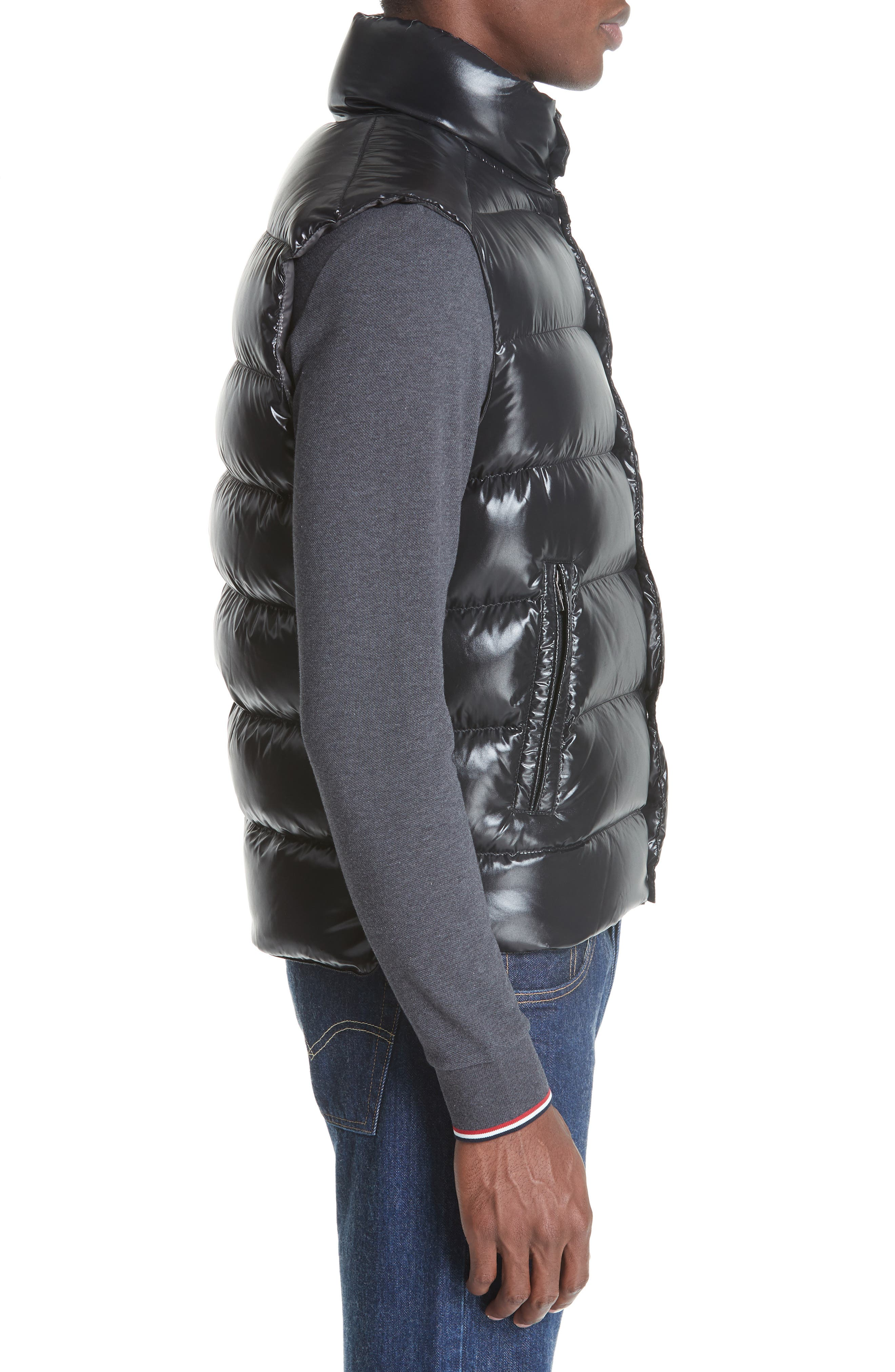 Tib Down Vest,                             Alternate thumbnail 3, color,                             BLACK
