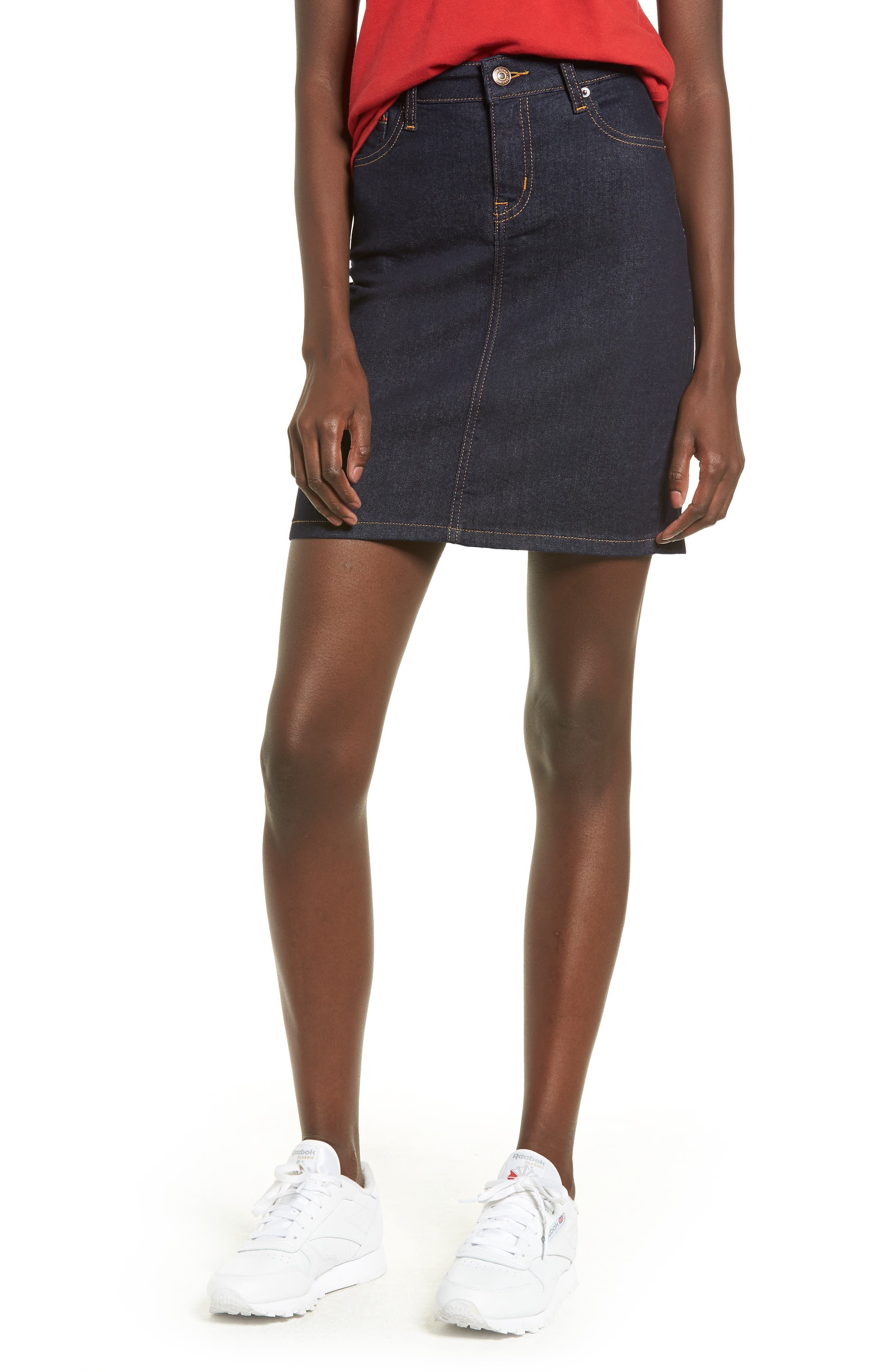 Tommy Jeans Denim Skirt, 7 - Black