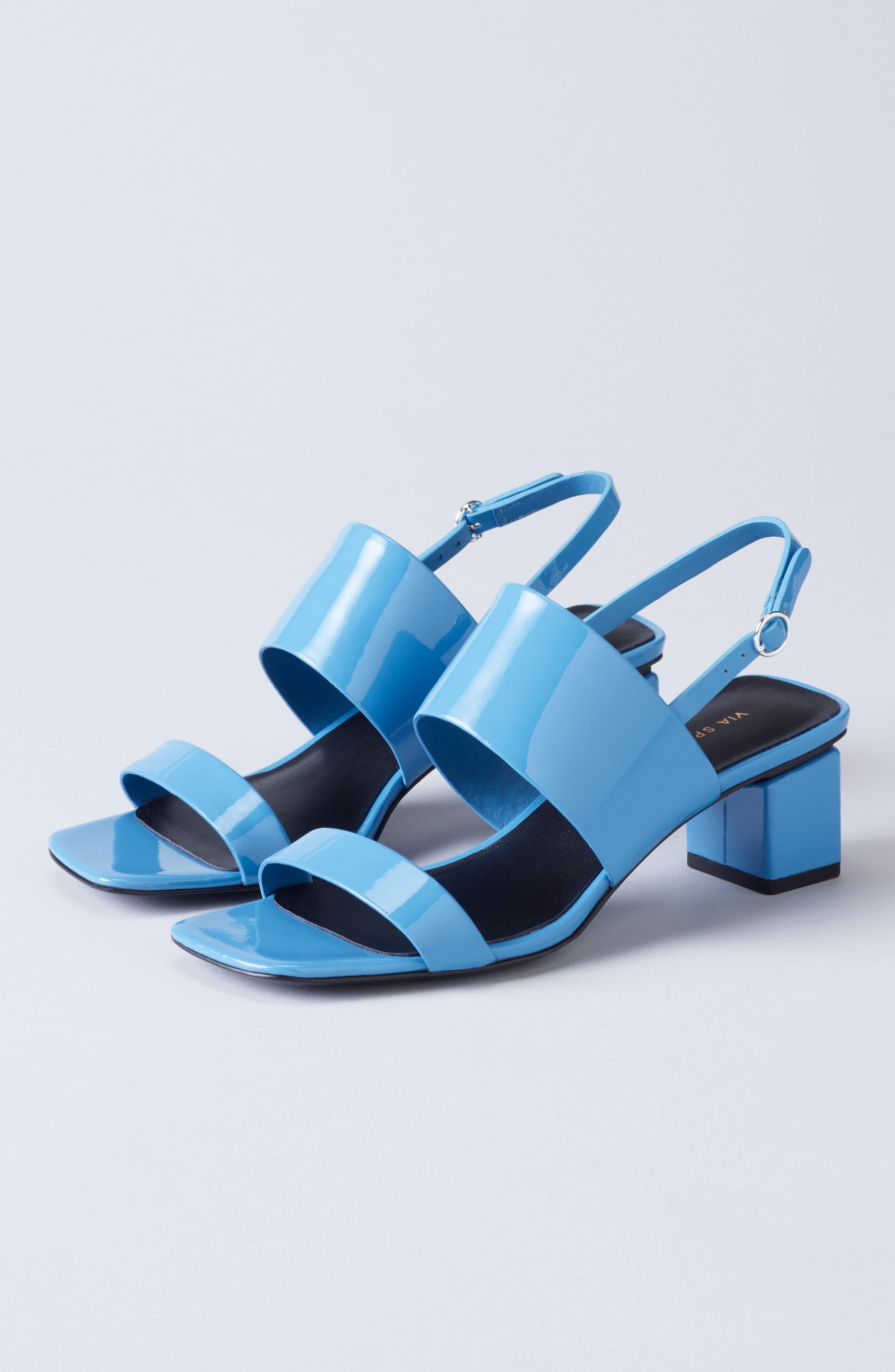 Forte Block Heel Sandal,                             Alternate thumbnail 7, color,                             001
