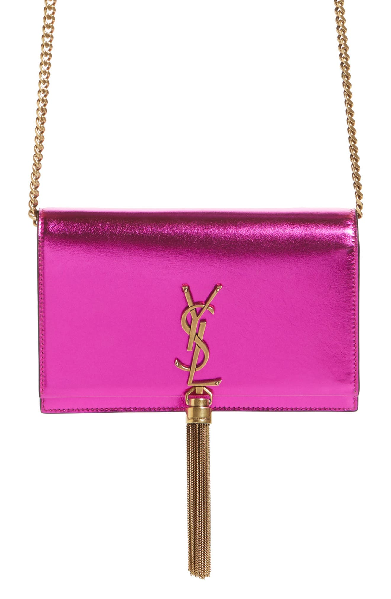 Kate Metallic Wallet on a Chain,                             Main thumbnail 1, color,                             675