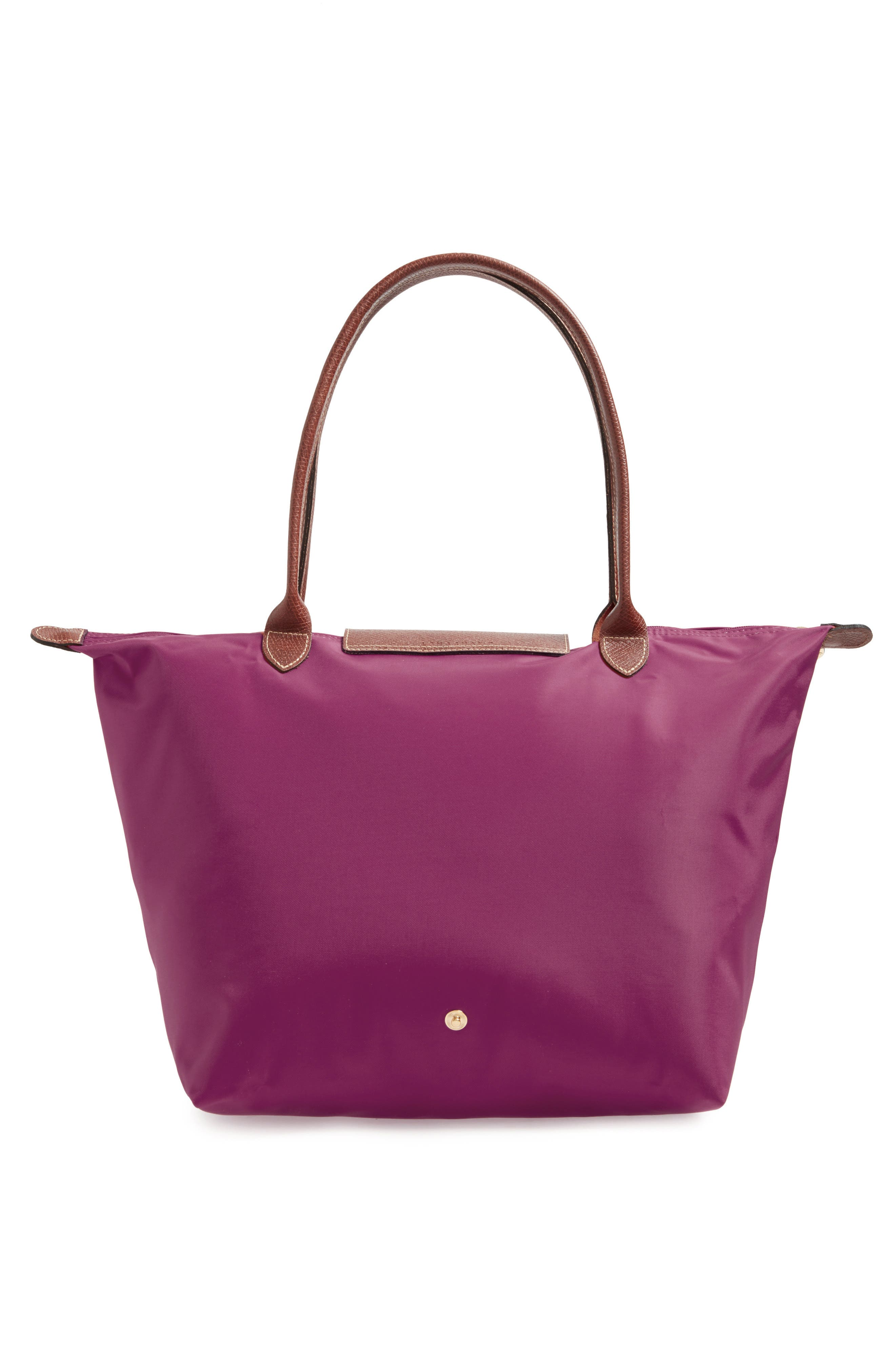 'Large Le Pliage' Tote,                             Alternate thumbnail 3, color,                             DAHLIA