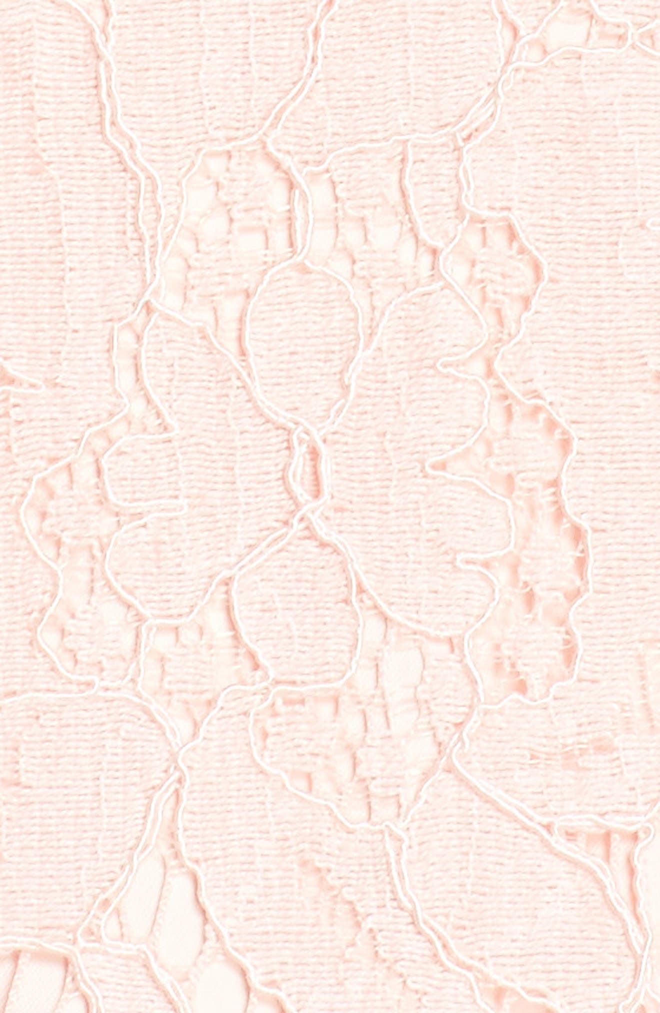 Babe Lace Gown,                             Alternate thumbnail 6, color,                             PALE PINK