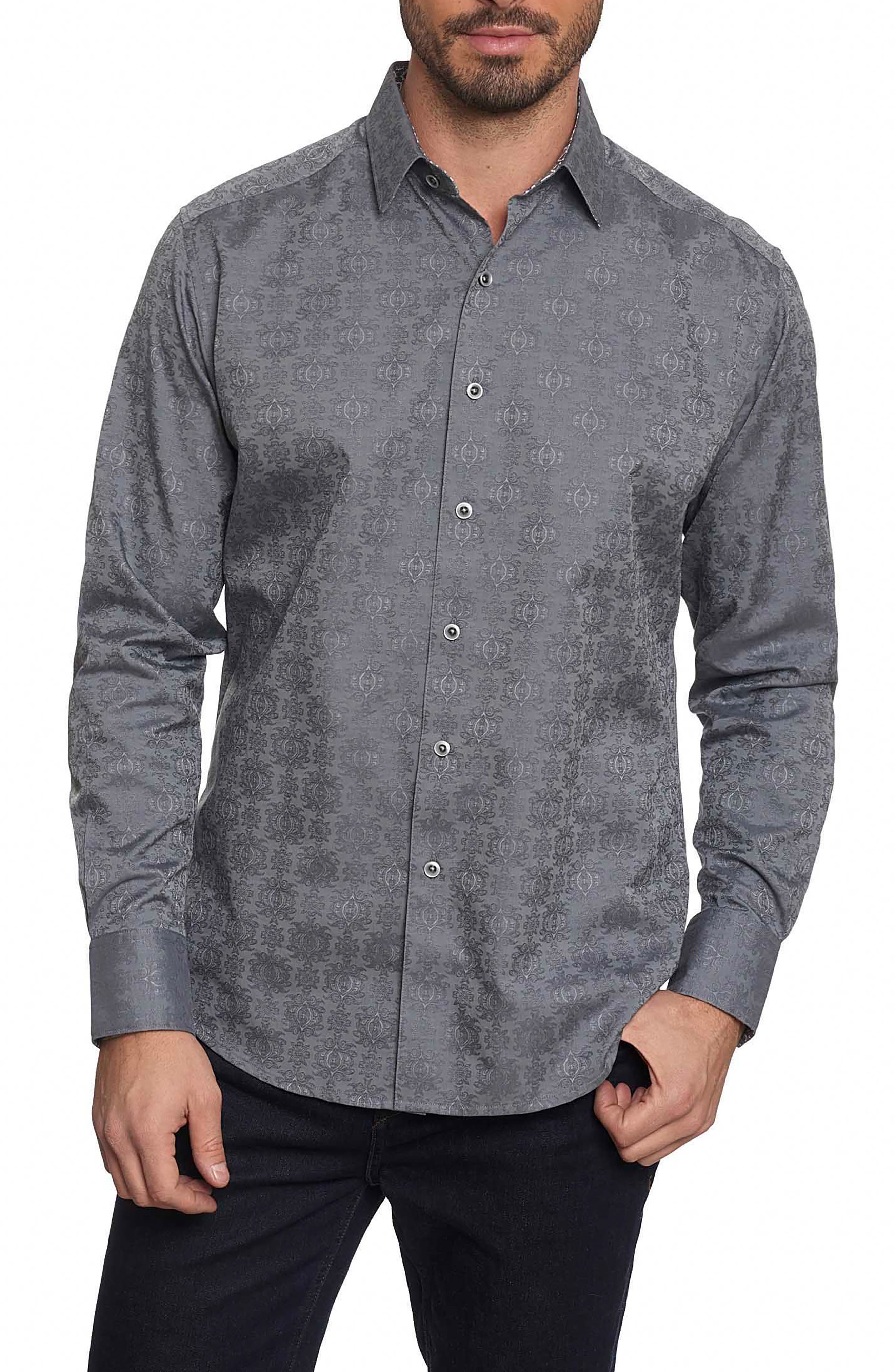'Cullen' Classic Fit Jacquard Sport Shirt,                             Main thumbnail 1, color,                             020