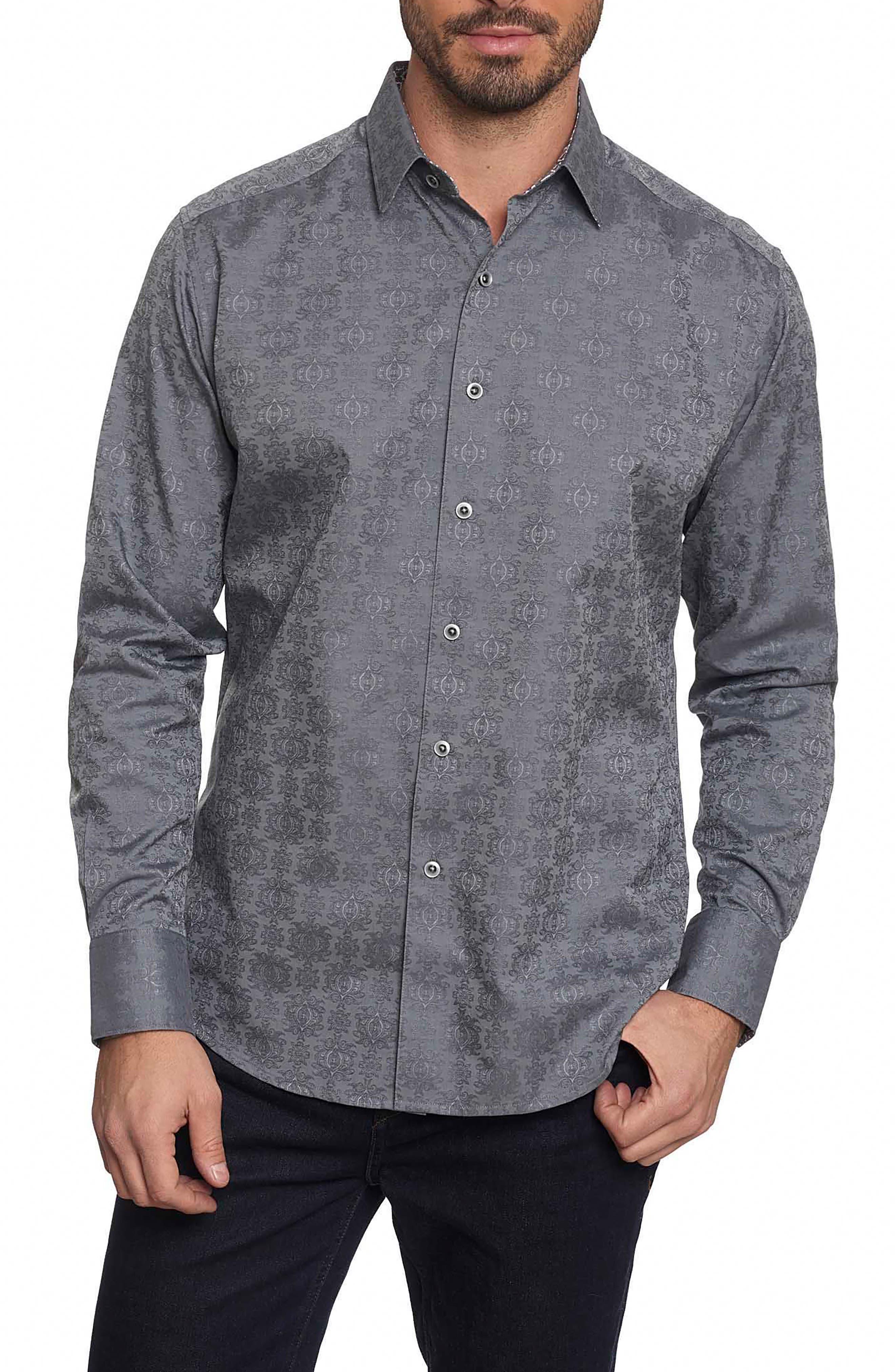 'Cullen' Classic Fit Jacquard Sport Shirt,                         Main,                         color, 020