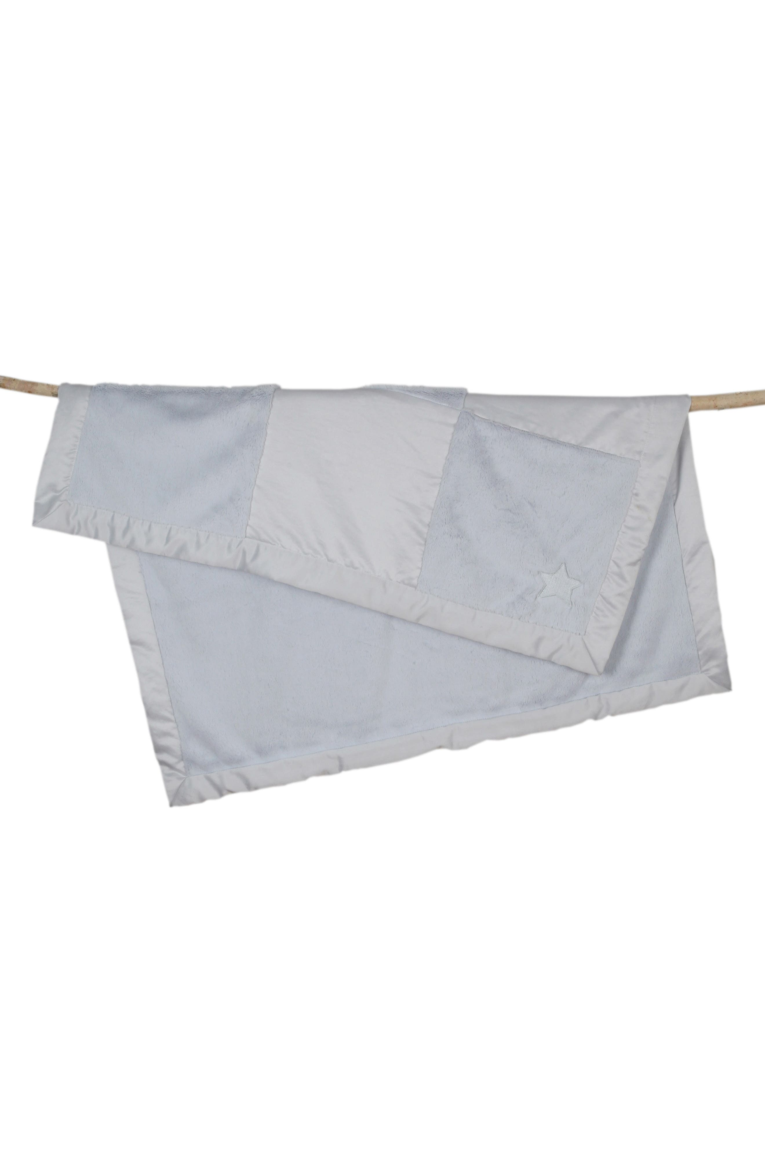 'Cuddle' Patchwork Receiving Blanket,                             Alternate thumbnail 3, color,                             400