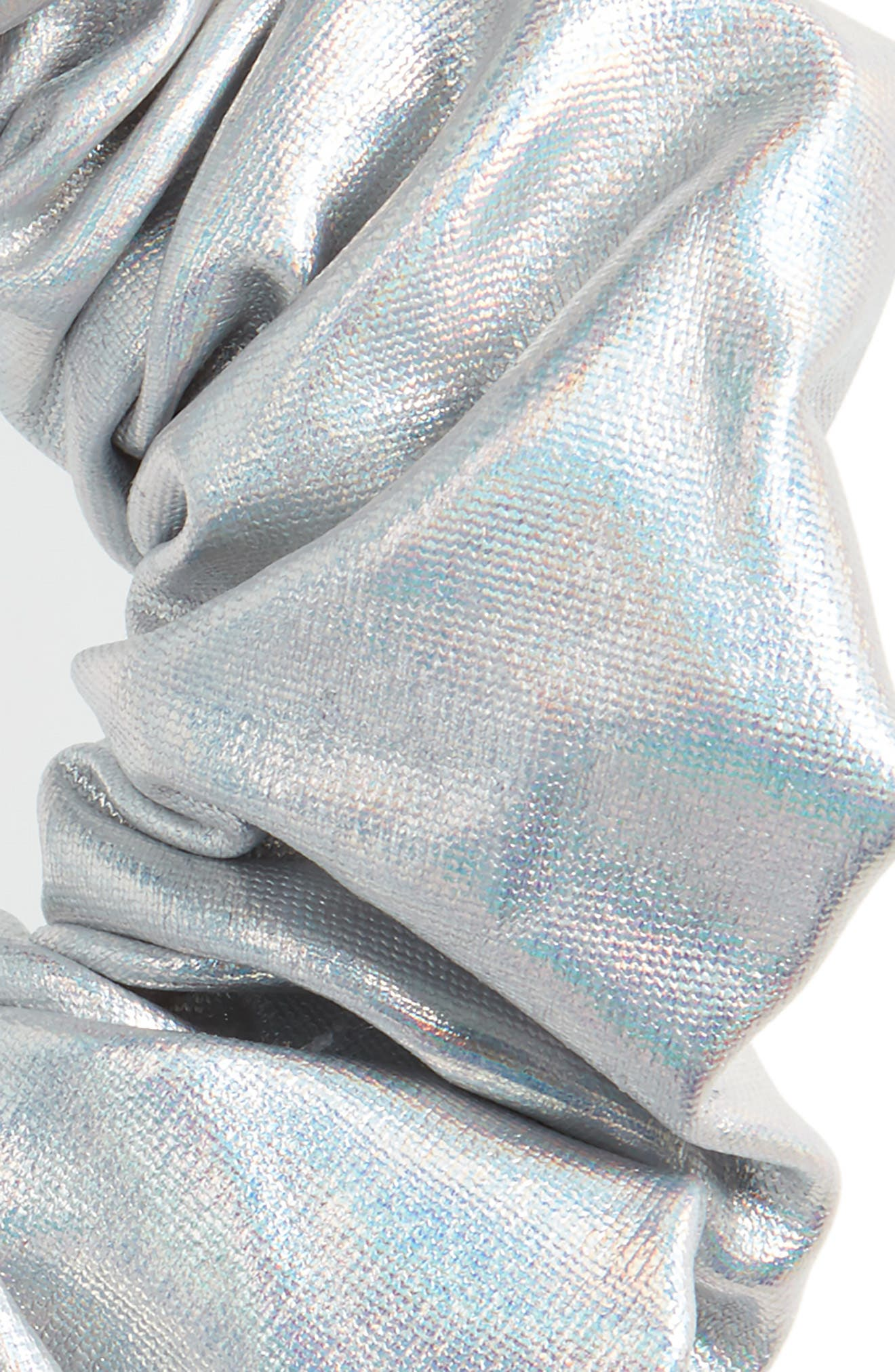 Silver Scrunchie,                             Alternate thumbnail 2, color,