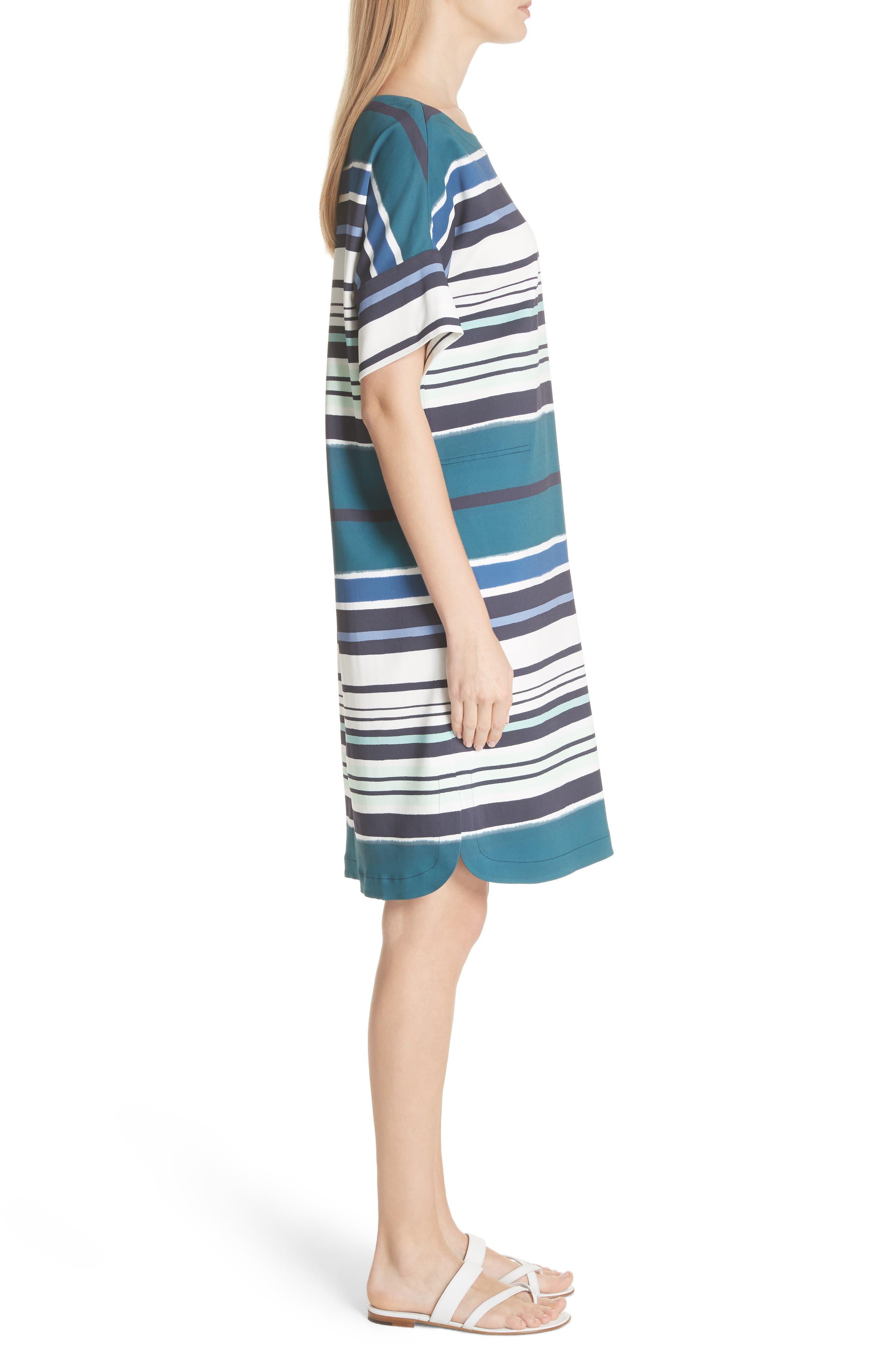 Lydia Stripe Dress,                             Alternate thumbnail 3, color,                             438