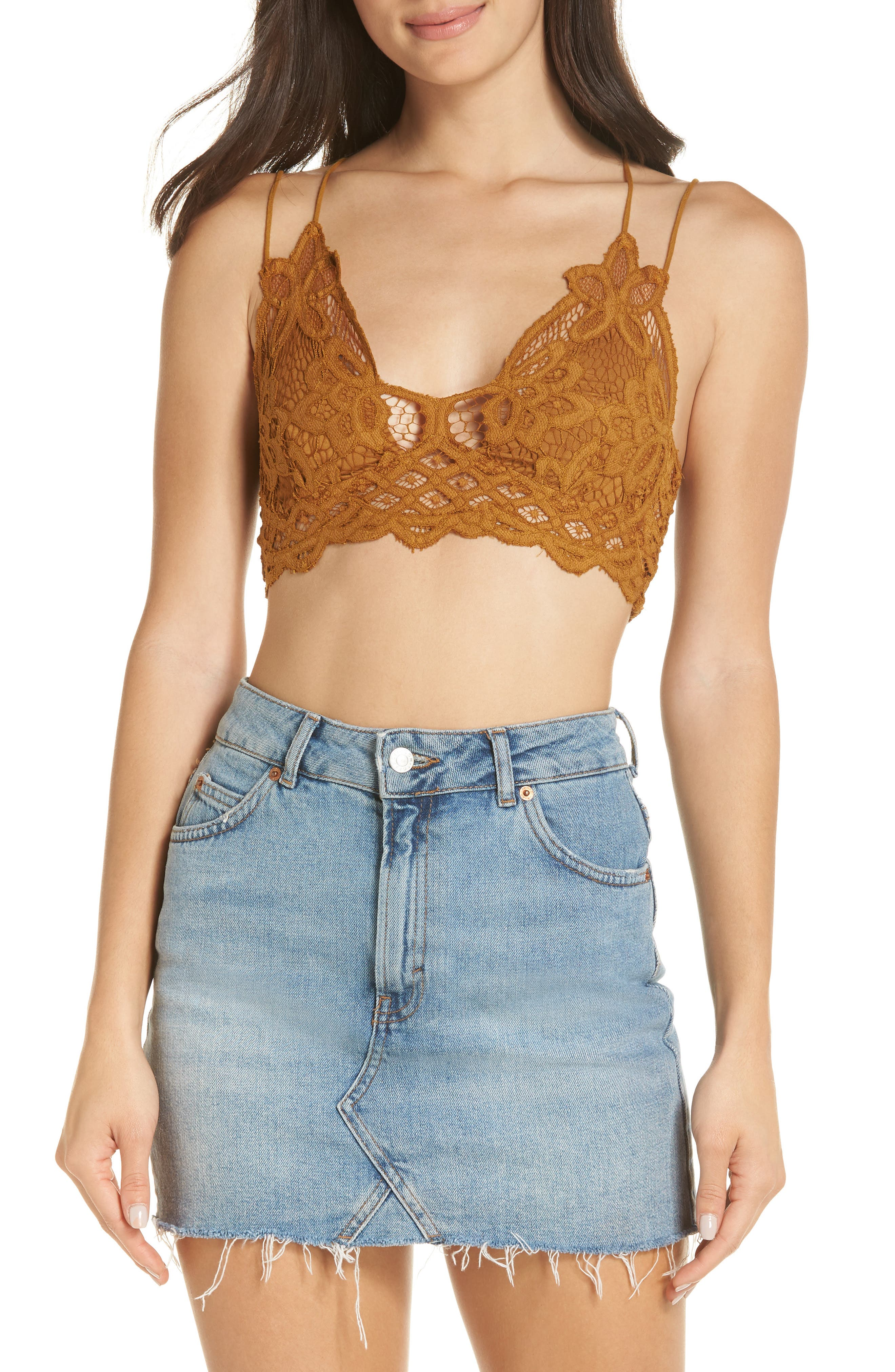 FREE PEOPLE,                             Intimately FP Adella Longline Bralette,                             Alternate thumbnail 4, color,                             GOLD