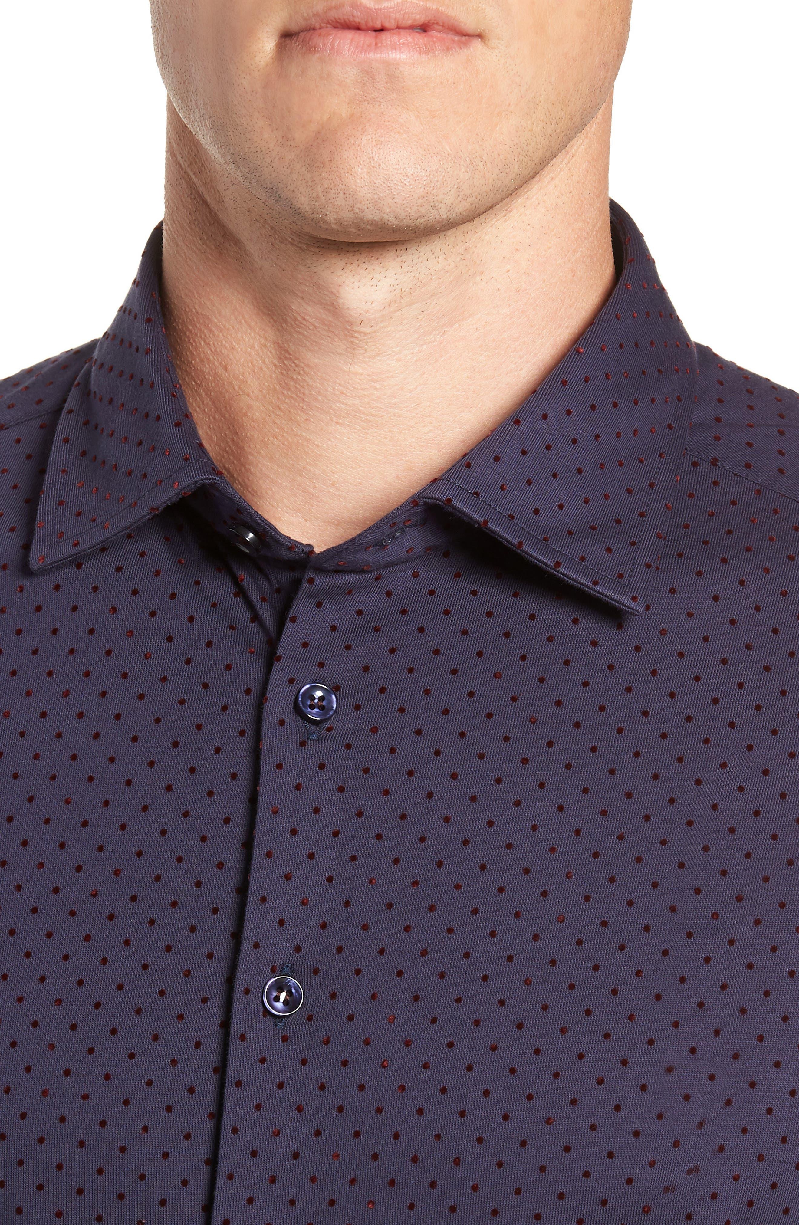 STONE ROSE,                             Regular Fit Knit Sport Shirt,                             Alternate thumbnail 2, color,                             NAVY