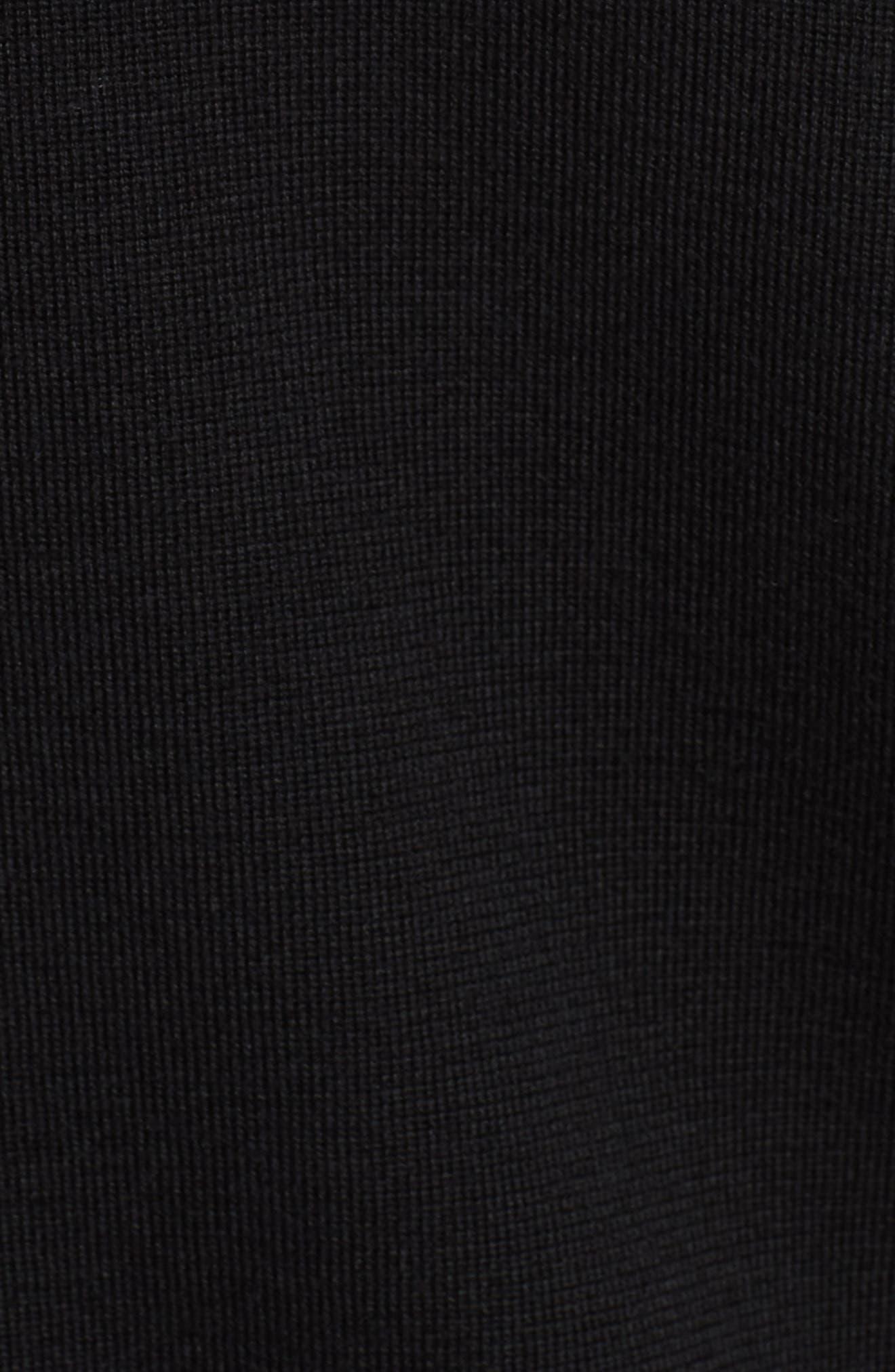 Windbridge Regular Fit Hooded Sweater Jacket,                             Alternate thumbnail 5, color,                             BLACK